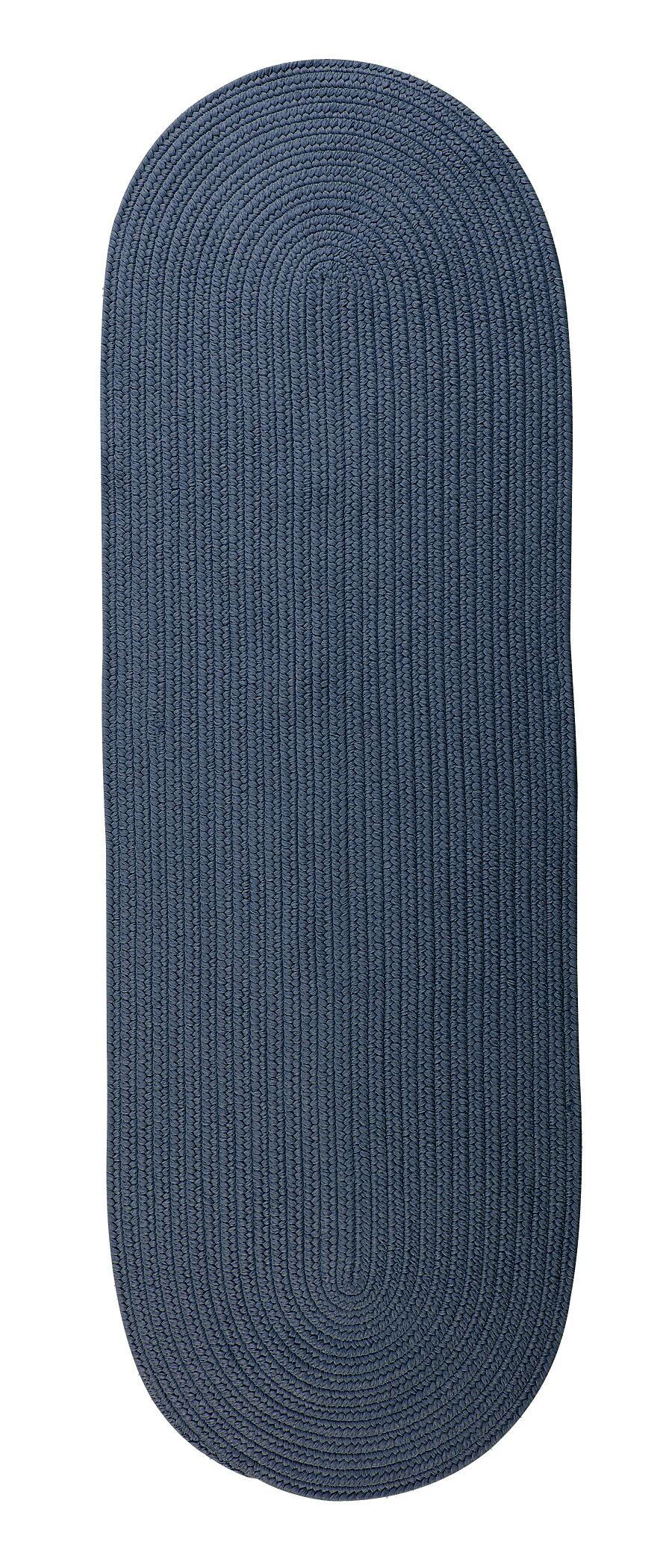 Mcintyre Blue Indoor/Outdoor Area Rug Rug Size: Oval Runner 2' x 12'