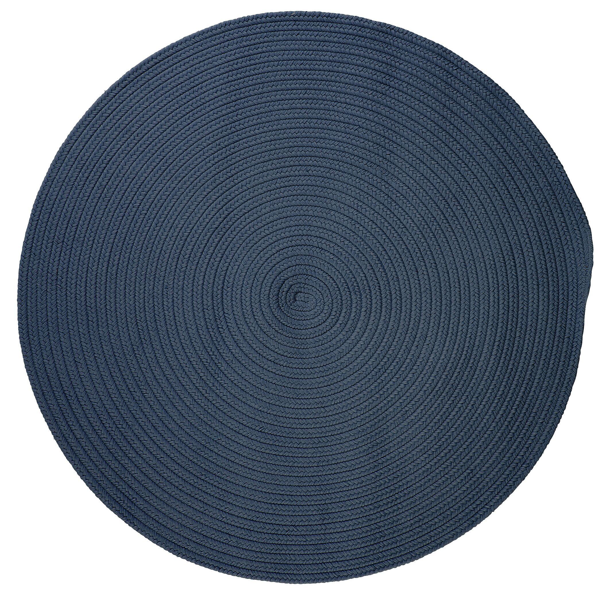 Mcintyre Blue Indoor/Outdoor Area Rug Rug Size: Round 4'