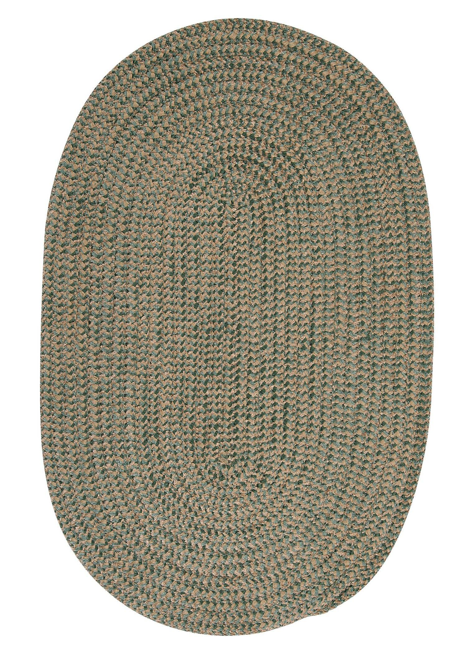 Hale Myrtle Green Check Indoor/Outdoor Area Rug Rug Size: Round 6'