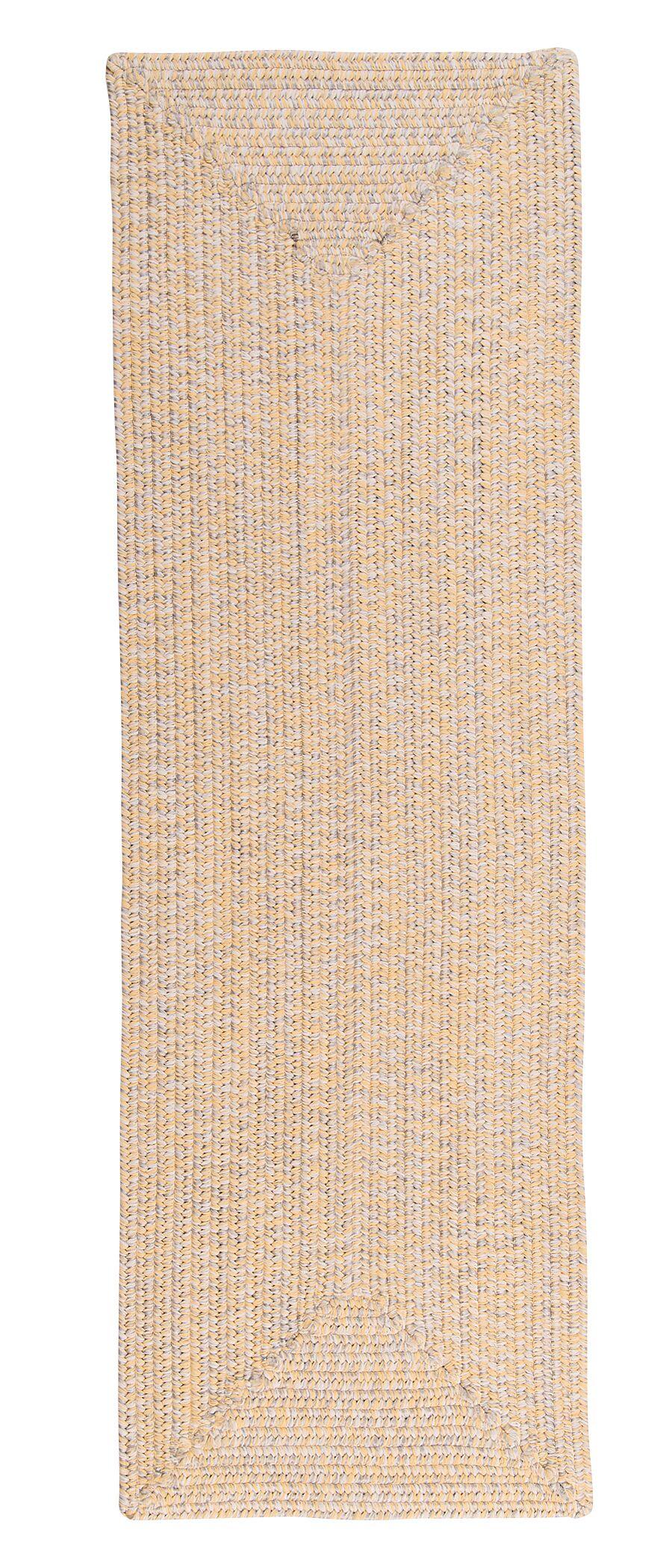Hawkins Yellow Sun-Soaked Indoor/Outdoor Area Rug Rug Size: Runner 2' x 8'
