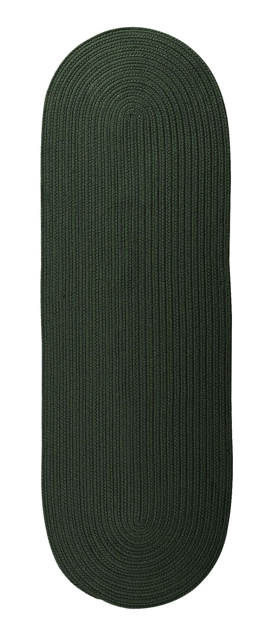 Mcintyre Dark Green Outdoor Area Rug Rug Size: Oval Runner 2' x 6'