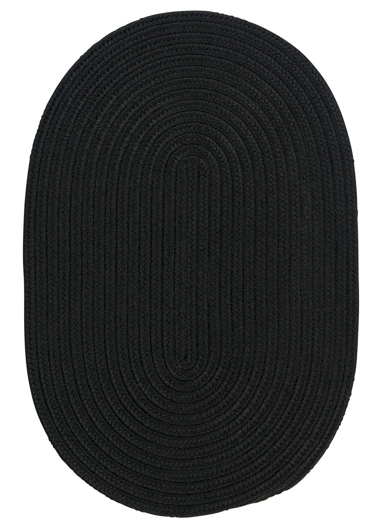 Mcintyre Black Indoor/Outdoor Area Rug Rug Size: Oval Runner 2' x 9'