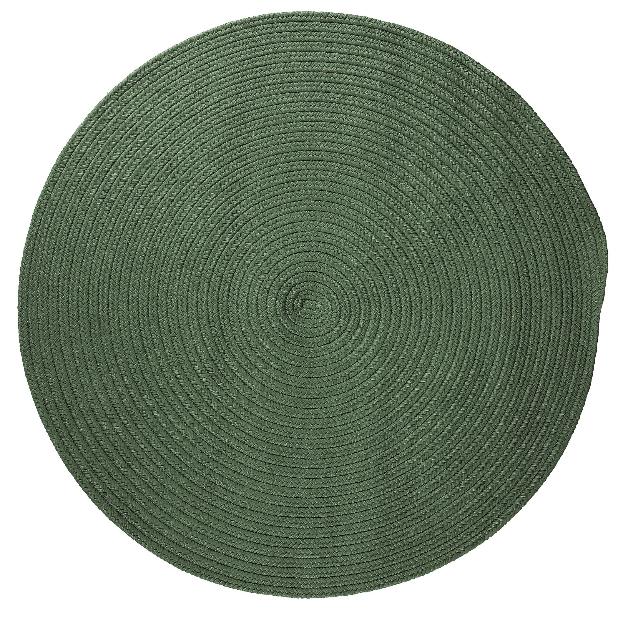 Mcintyre Myrtle Green Indoor/Outdoor Area Rug Rug Size: Round 4'