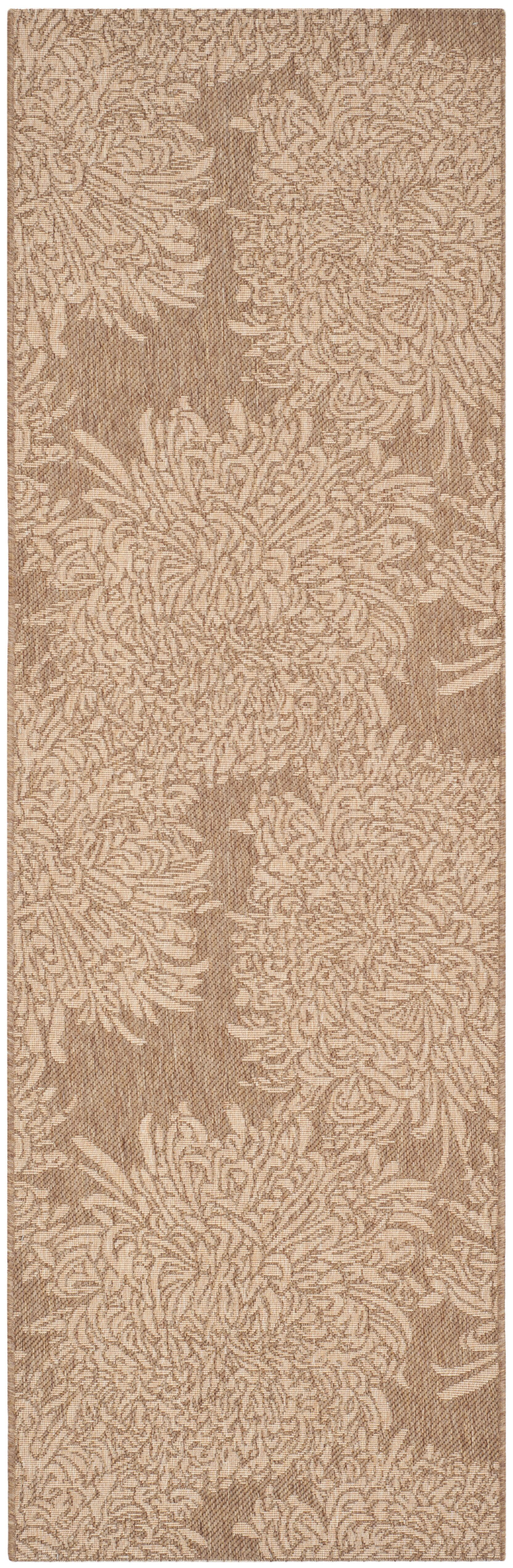 Chrysanthemum Beige/Brown Area Rug Rug Size: Rectangle 6'7