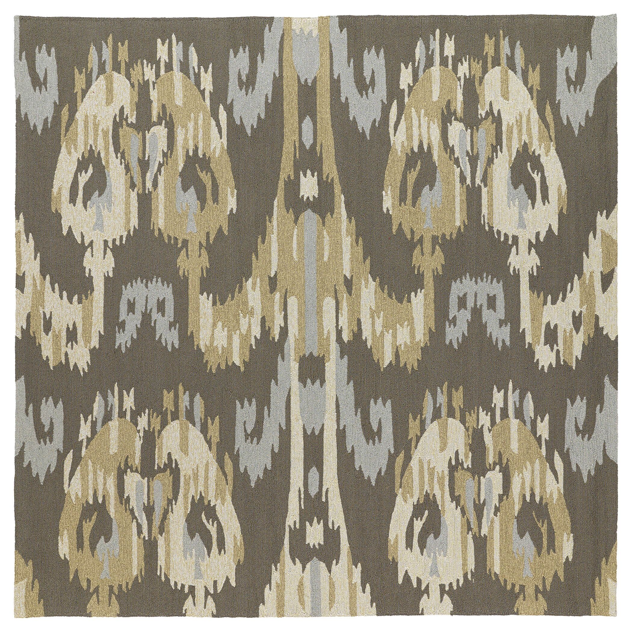 Cavour Graphite Floral Indoor/Outdoor Area Rug Rug Size: Square 5'9