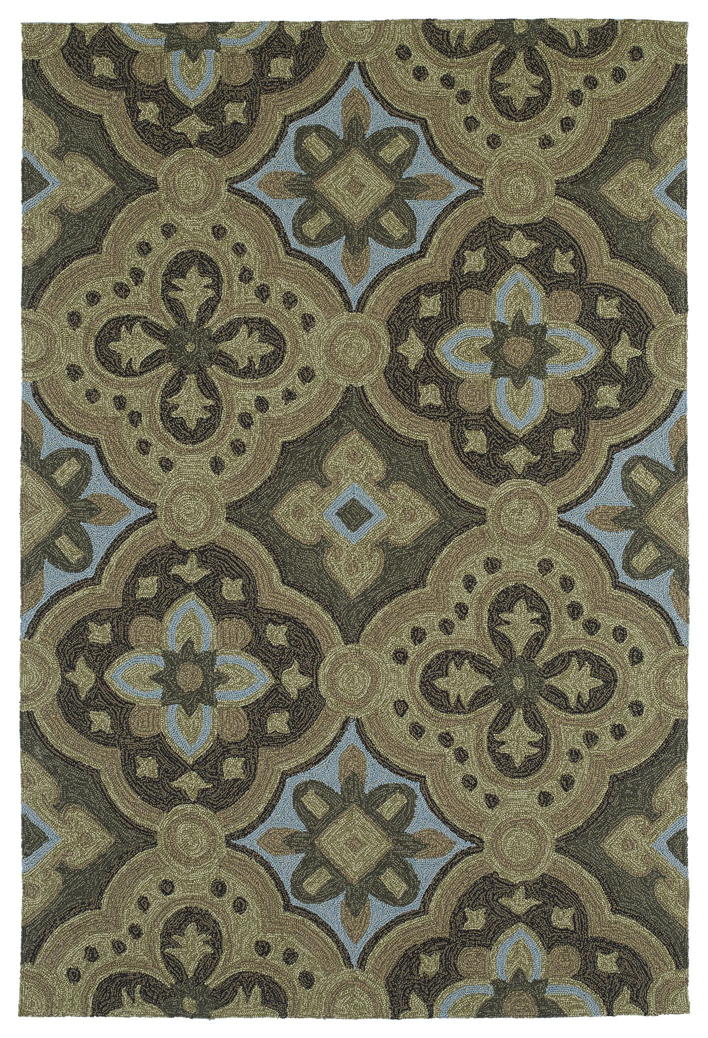 Cavour Mocha Floral Indoor/Outdoor Area Rug Rug Size: Rectangle 9' x 12'