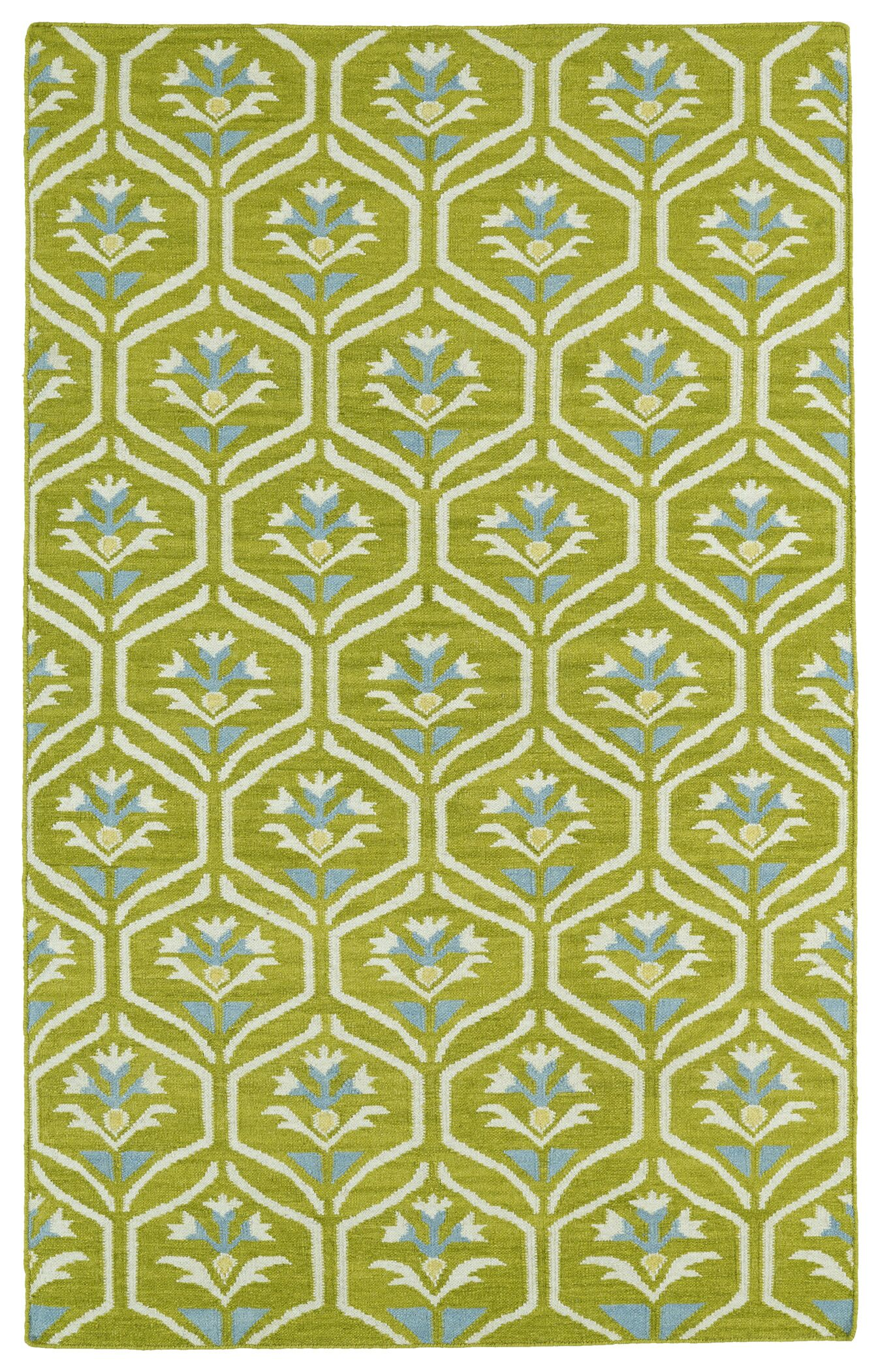 Gillespie Green Geometric Area Rug Rug Size: Rectangle 5' x 8'