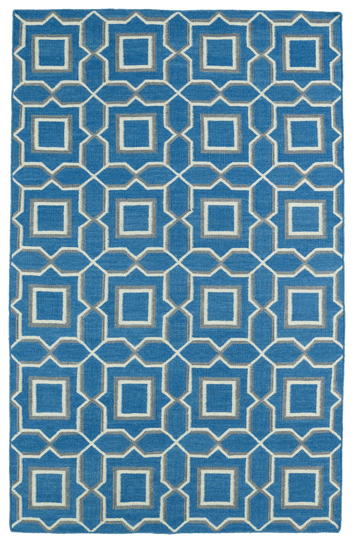 Christien Blue Geometric Area Rug Rug Size: Rectangle 9' x 12'