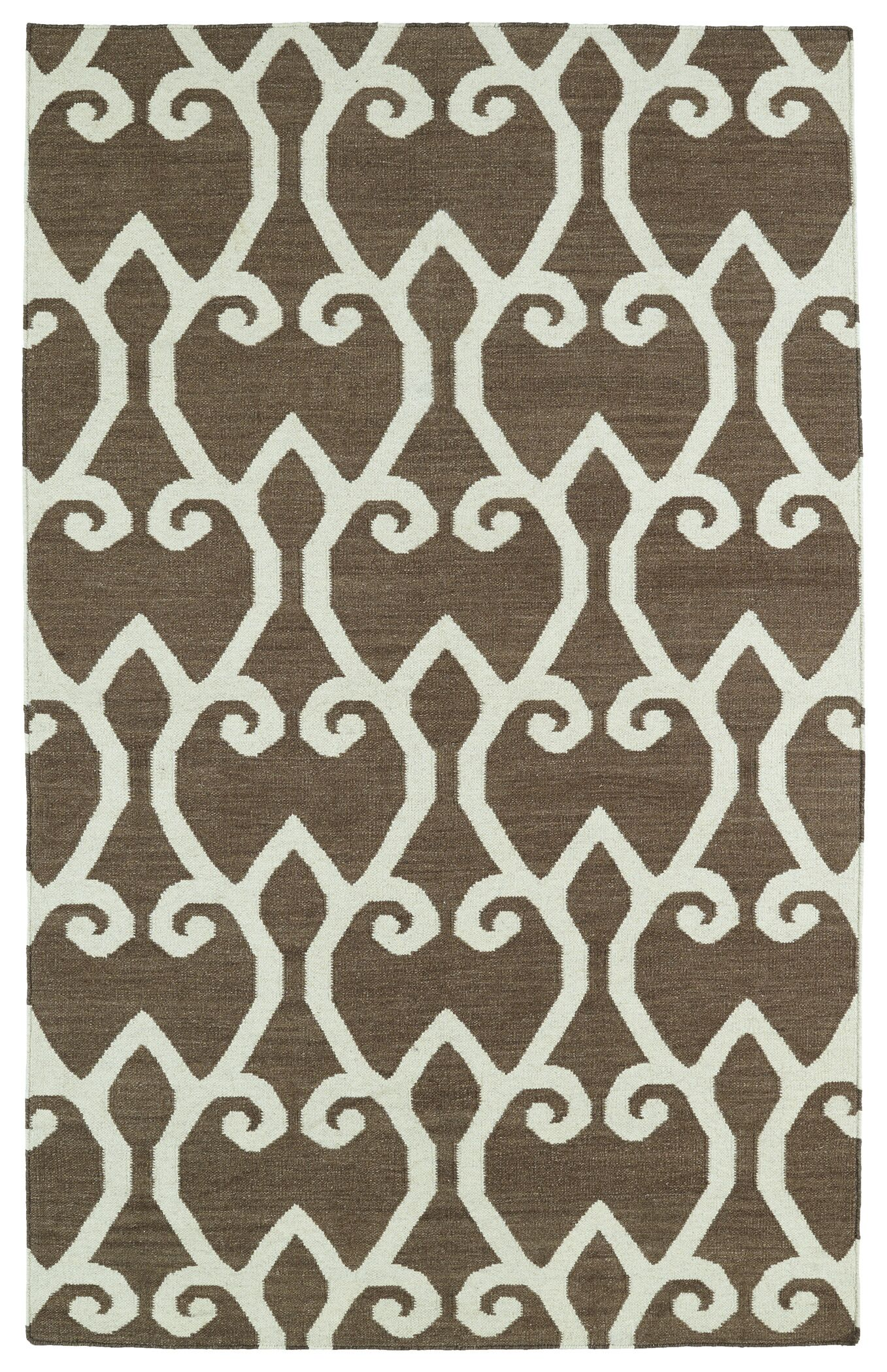 Gillespie Brown Area Rug Rug Size: Rectangle 3'6