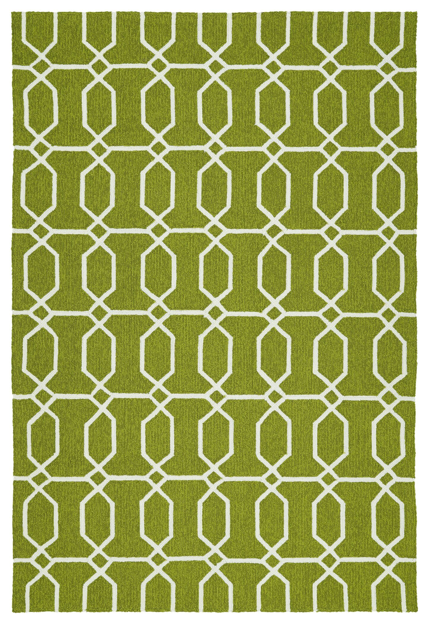 Stepanie Green/White Indoor/Outdoor Area Rug Rug Size: Rectangle 8' x 10'
