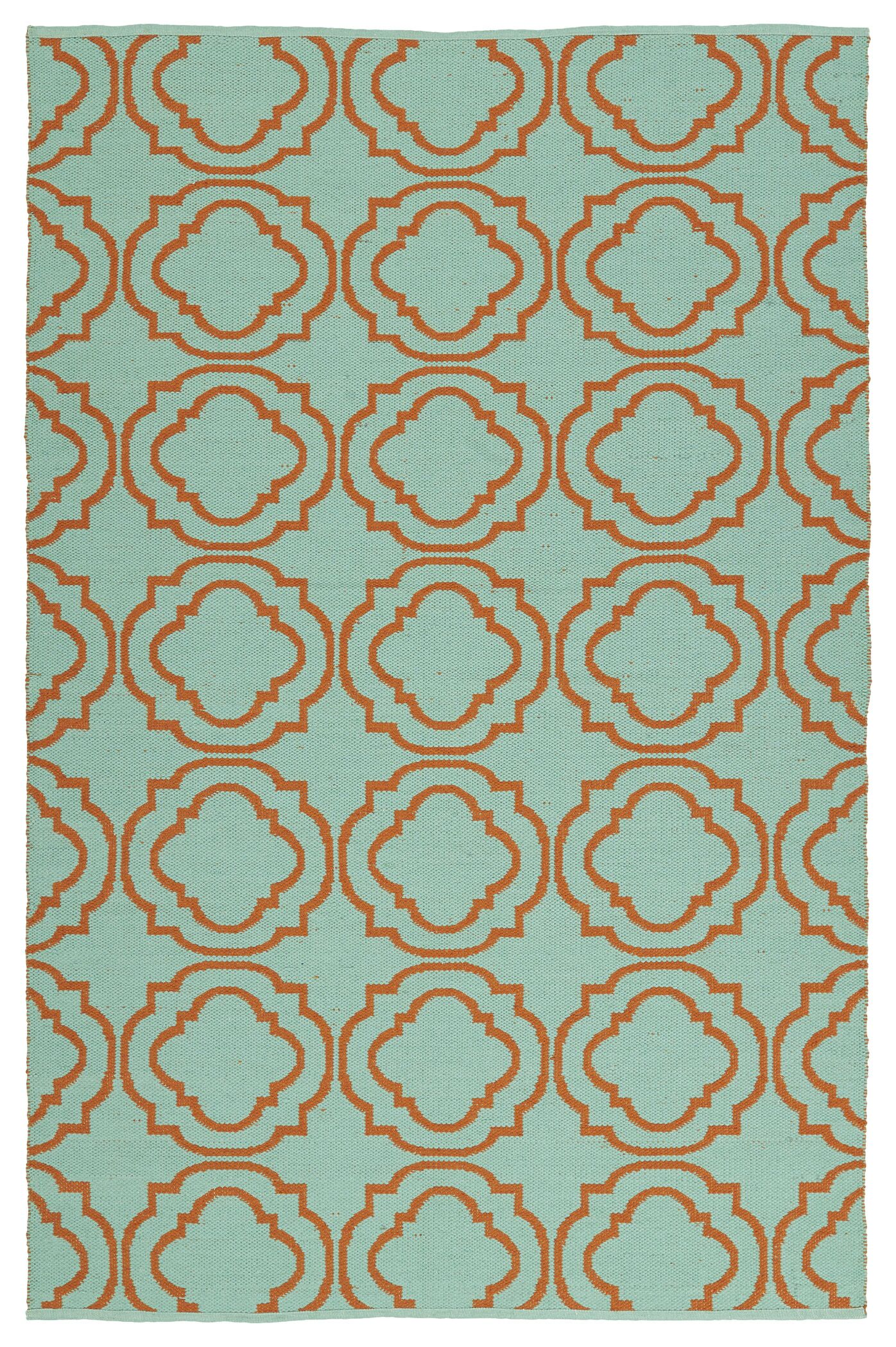 Tyesha Teal/Orange Indoor/Outdoor Area Rug Rug Size: Rectangle 8' x 10'