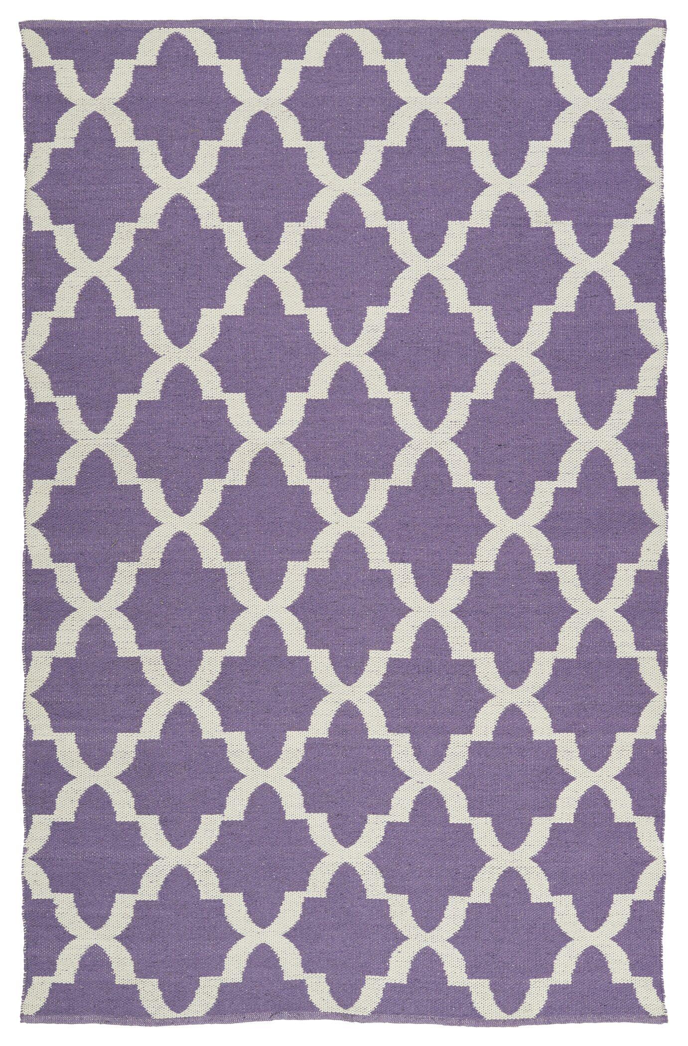 Tyesha Lilac/Cream Indoor/Outdoor Area Rug Rug Size: Runner 2' x 6'