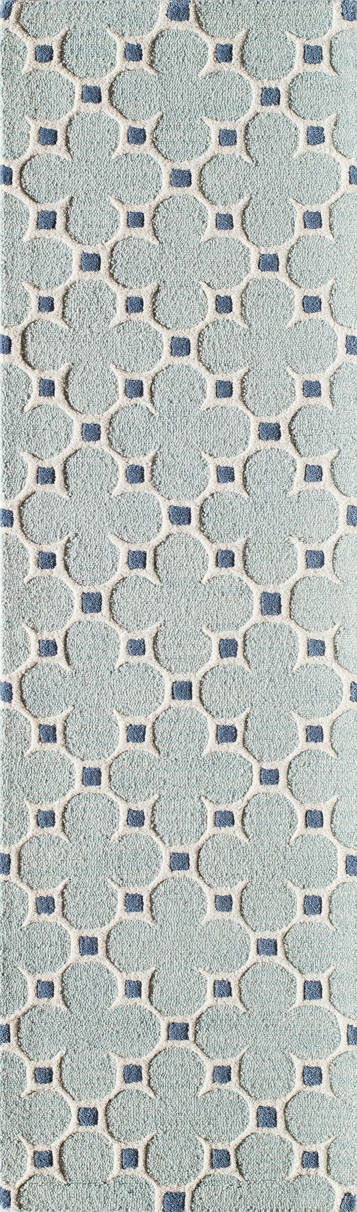 Sharell Hand-Tufted Blue Area Rug Rug Size: Runner 2'3