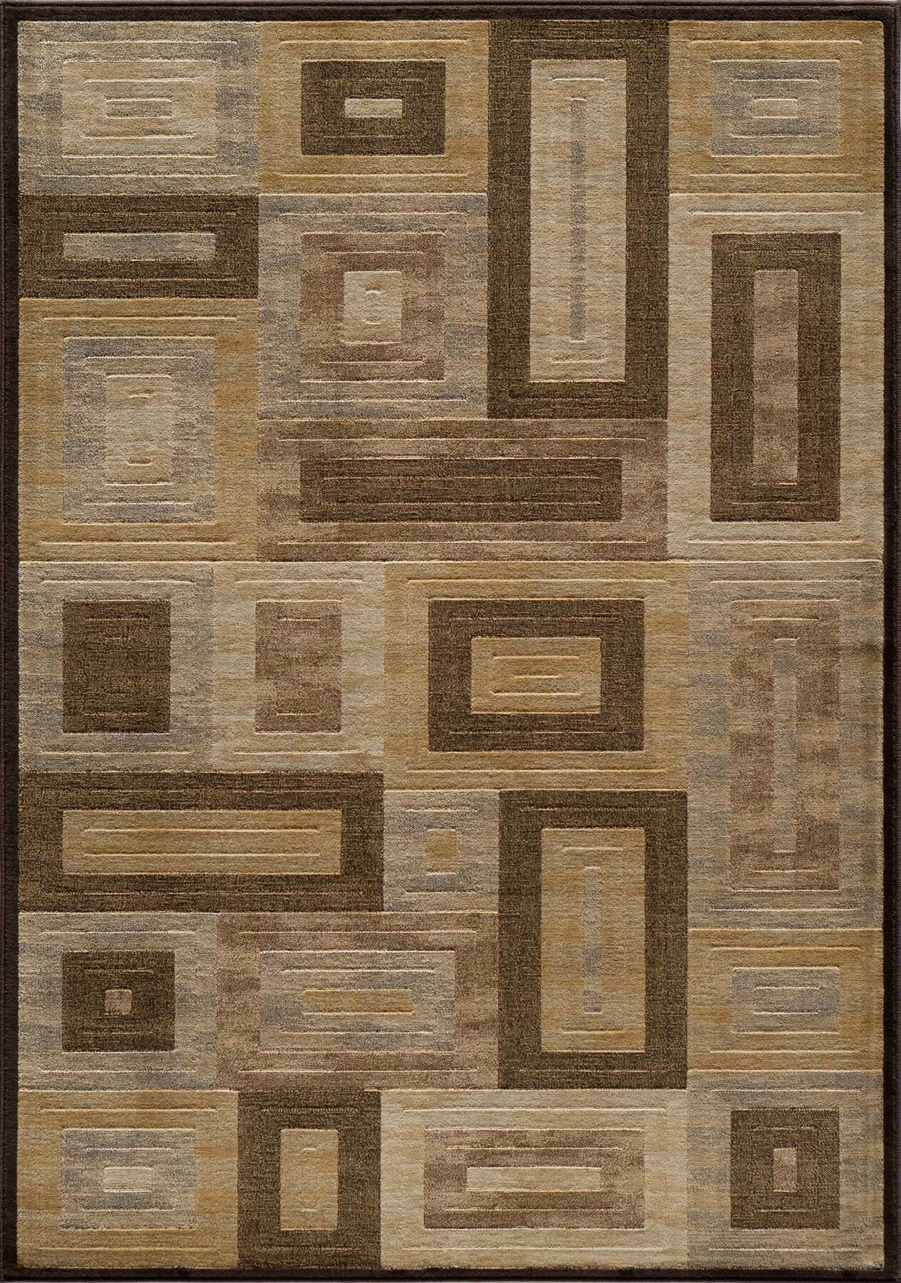 Sherill Brown Synthetic Area Rug Rug Size: Rectangle 3'11