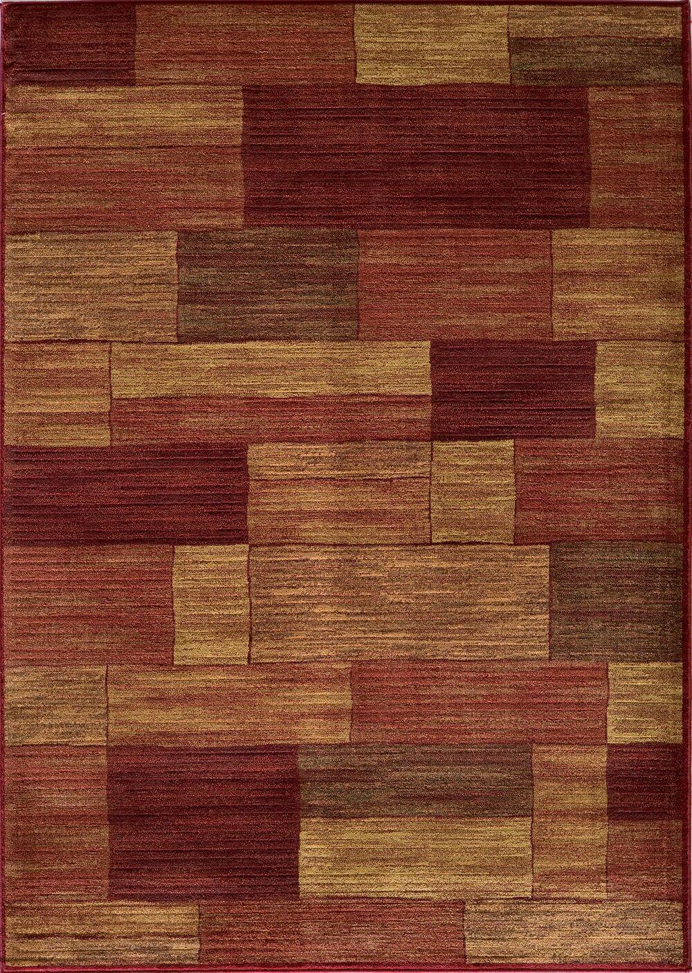 Sherill Burgundy/Beige Area Rug Rug Size: Rectangle 9'3