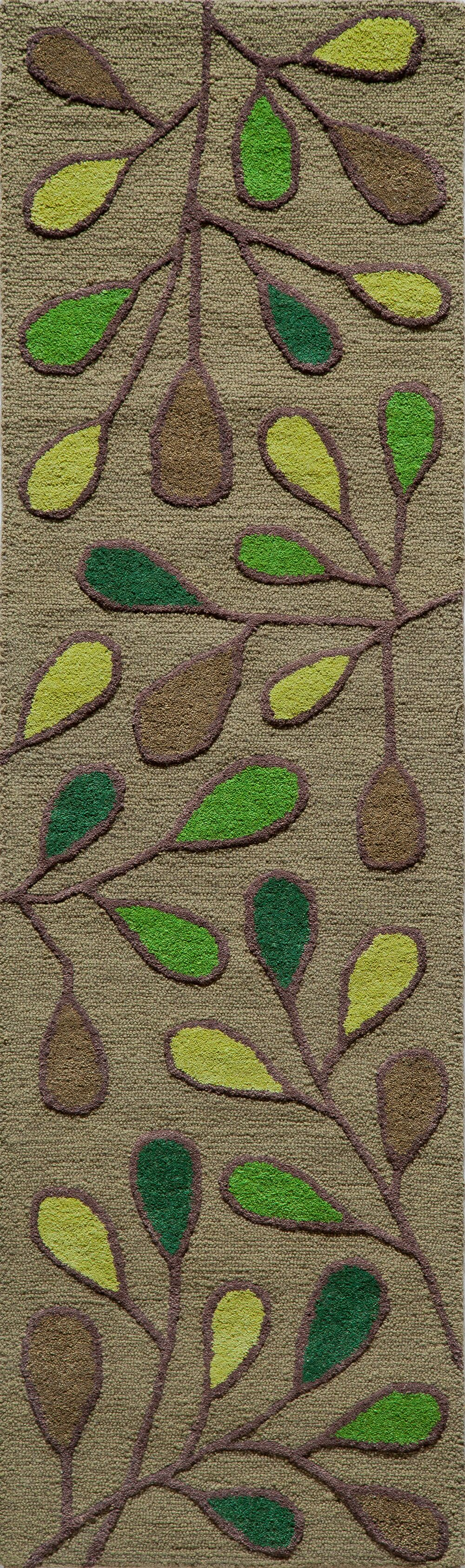 Coyan Hand-Tufted Green Area Rug Rug Size: Rectangle 3'6