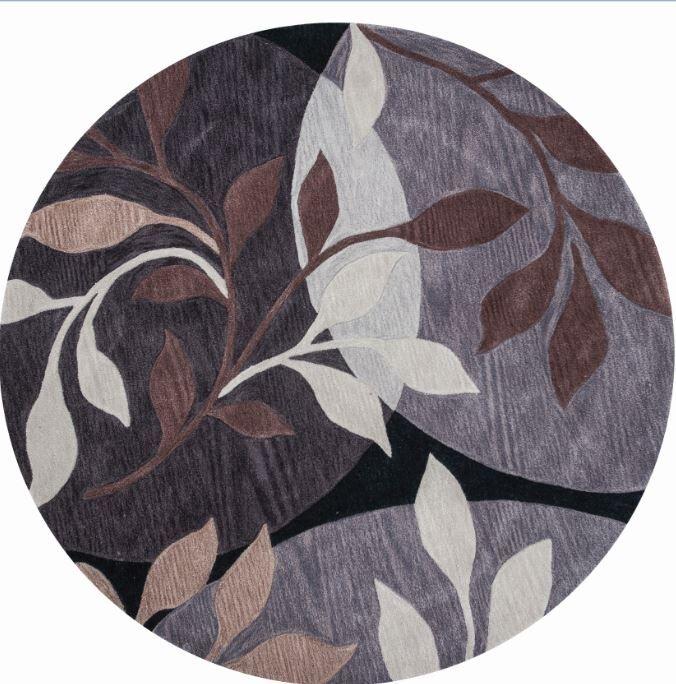 Bradshaw Plum/Black Mosaic Area Rug Rug Size: Rectangle 5' x 8'