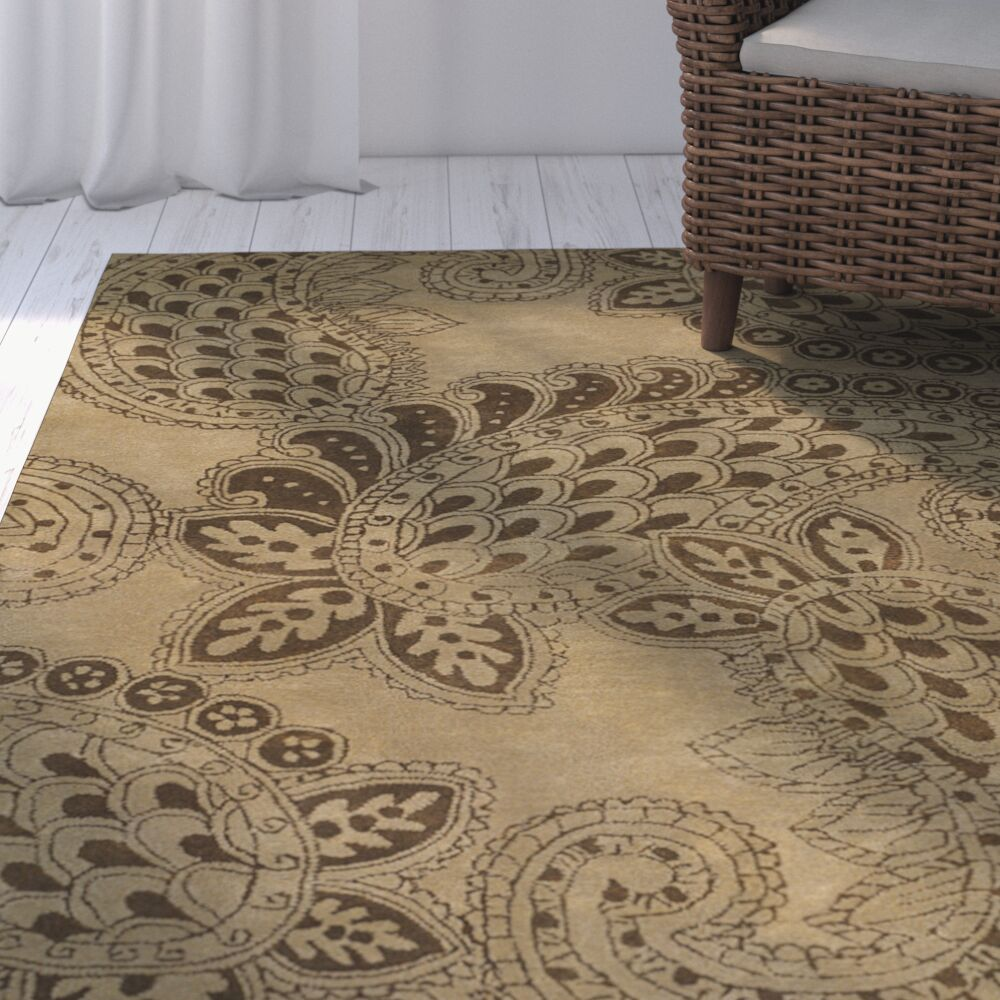 Grace Camel Brown/Tan Area Rug Rug Size: Rectangle 2' x 3'