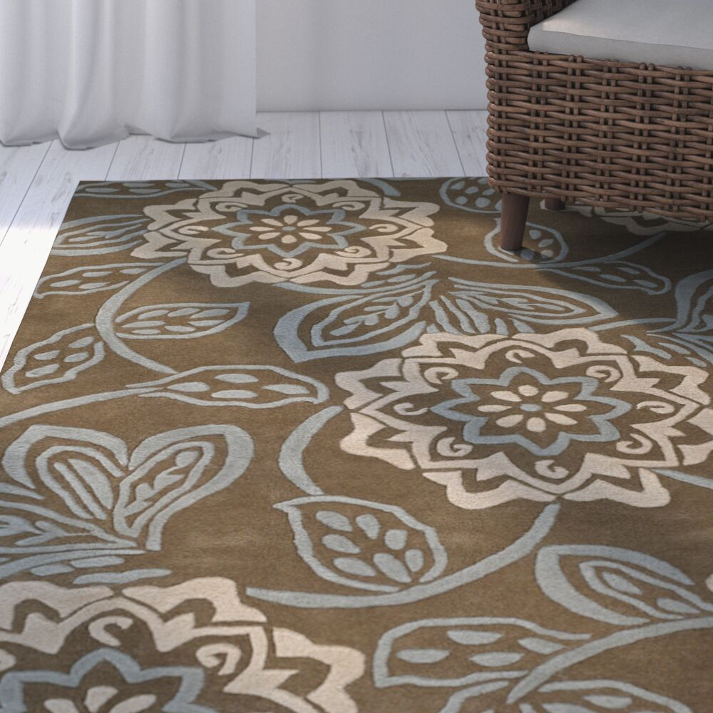 Jayme Brown/Tan Area Rug Rug Size: Rectangle 5' x 7'6