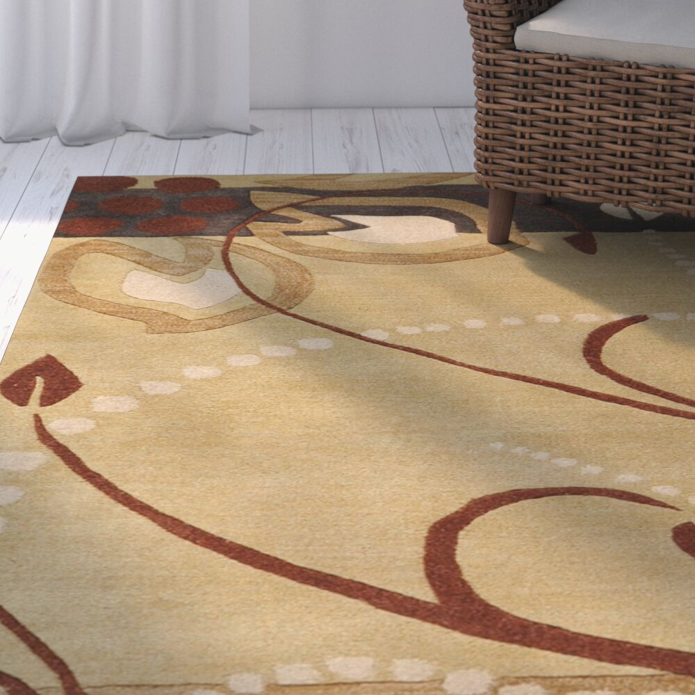 Hayden Hand-Woven Area Rug Rug Size: Square 4'