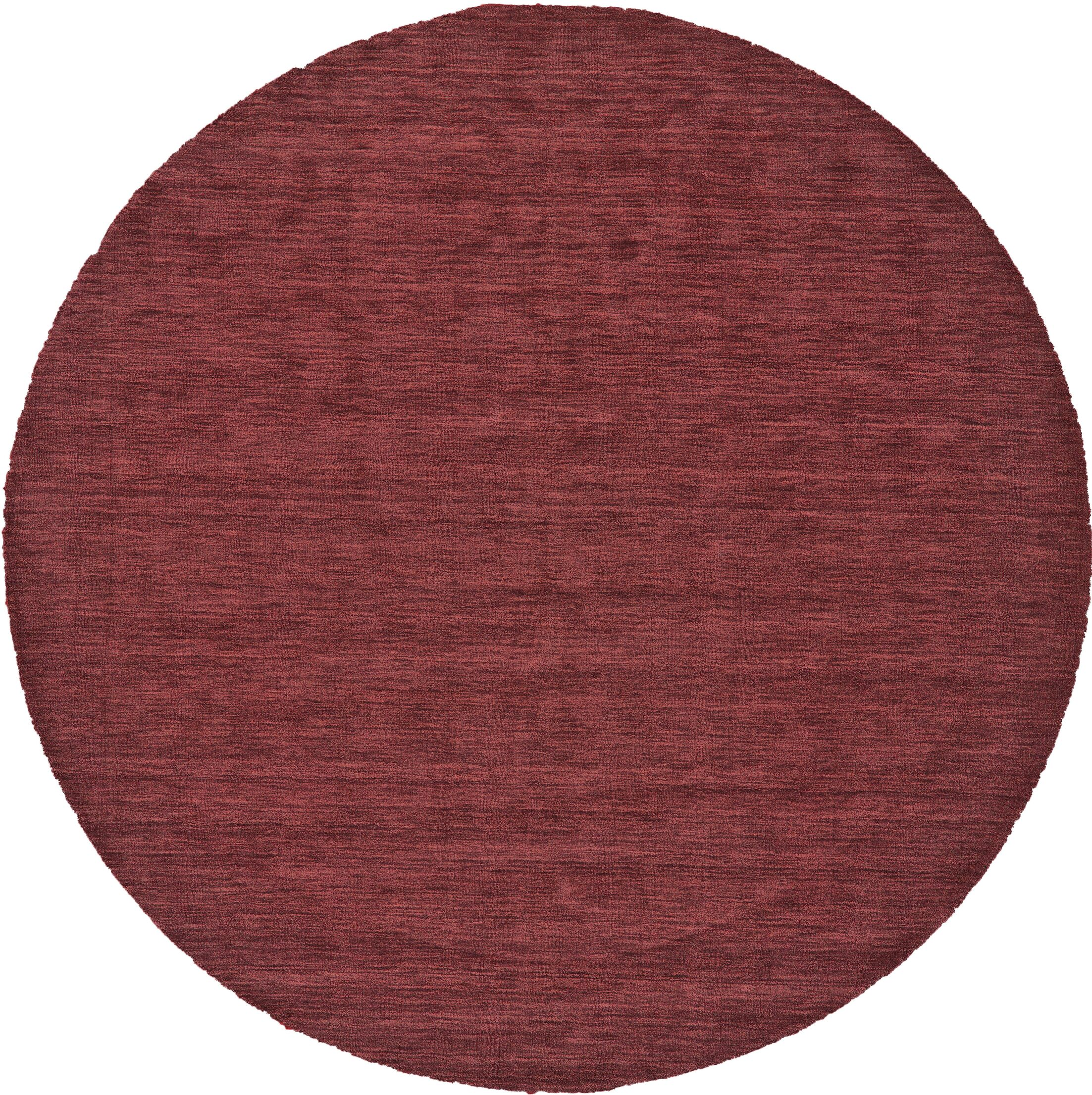 Richardson Hand-Loomed Red Area Rug Rug Size: Round 10'