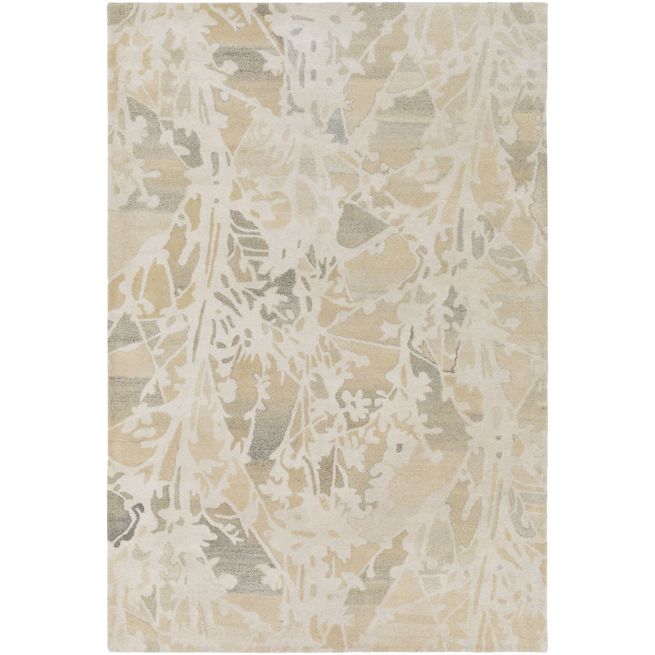 Heather Hand-Tufted Cream/Butter Area Rug Rug Size: Rectangle 5' x 7'6
