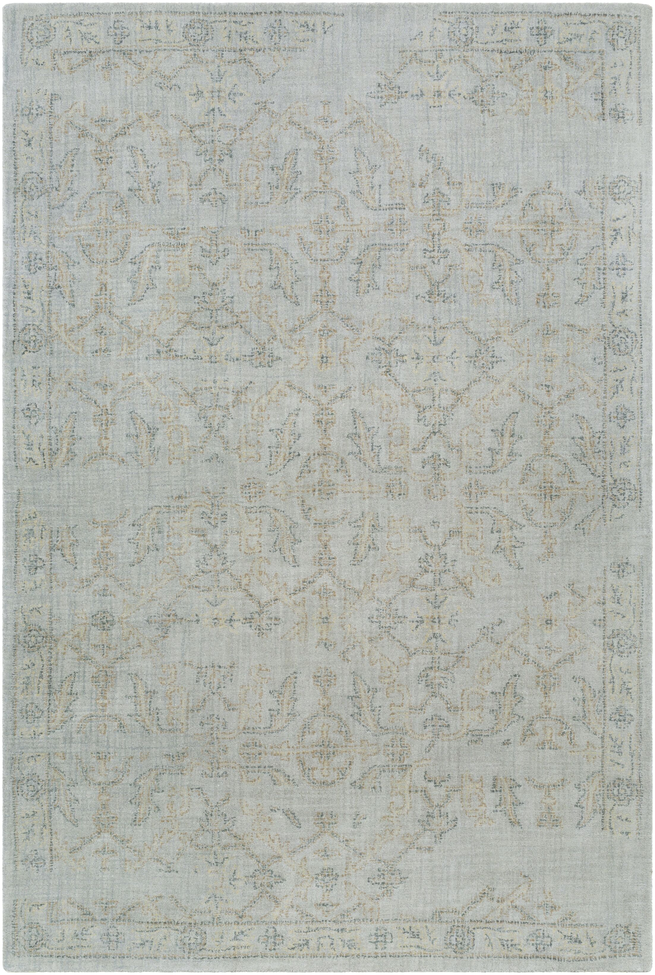 Alexis Hand-Tufted Medium Gray/Sage Area Rug Rug Size: Rectangle 5' x 7'6