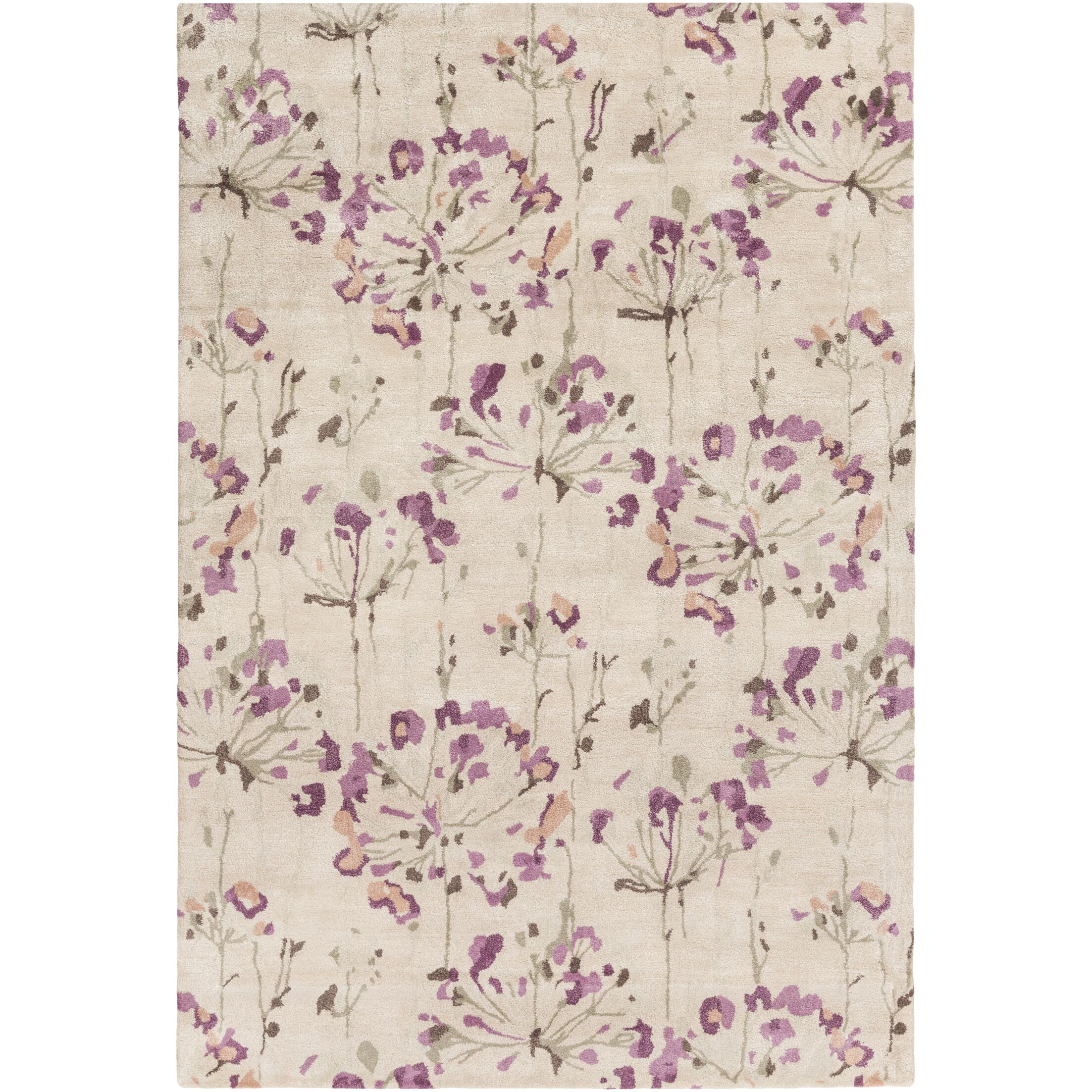 Walshville Hand-Tufted Floral and paisley Area Rug Rug Size: Rectangle 8' x 11'