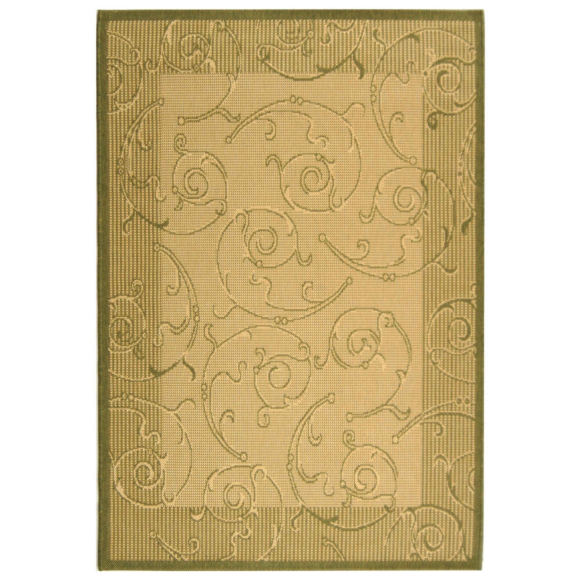 Alberty Natural/Olive Outdoor Rug Rug Size: Rectangle 4' x 5'7