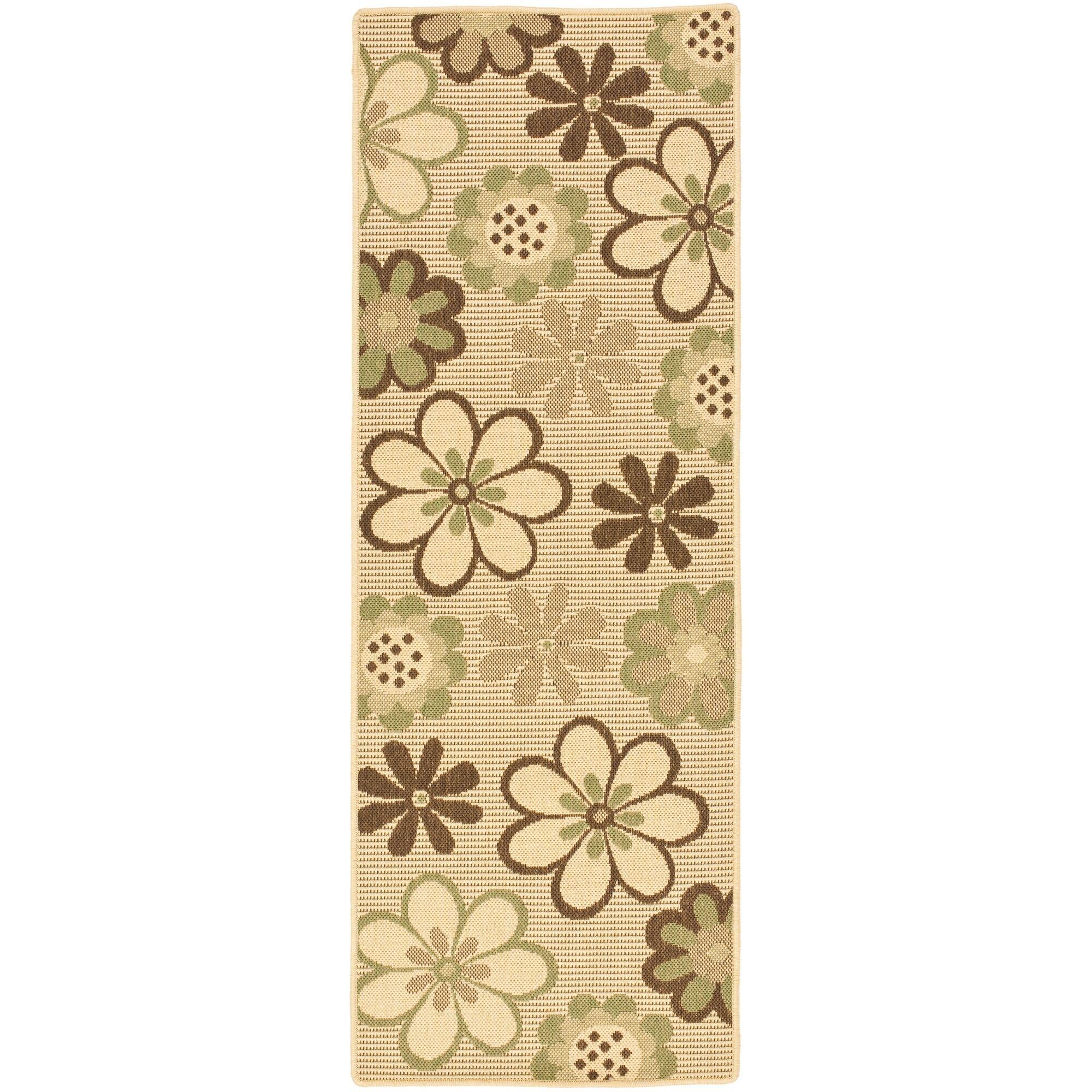 Short Natural Brown/Olive Outdoor Rug Rug Size: Rectangle 2'7