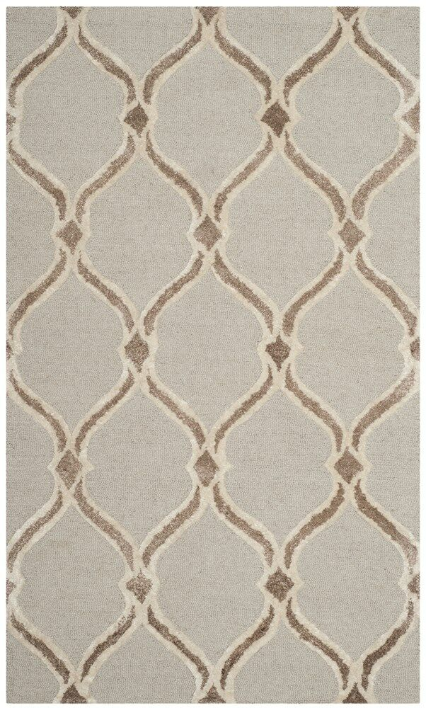 Garrison Hand-Tufted Taupe/Ivory Area Rug Rug Size: Rectangle 3' x 5'