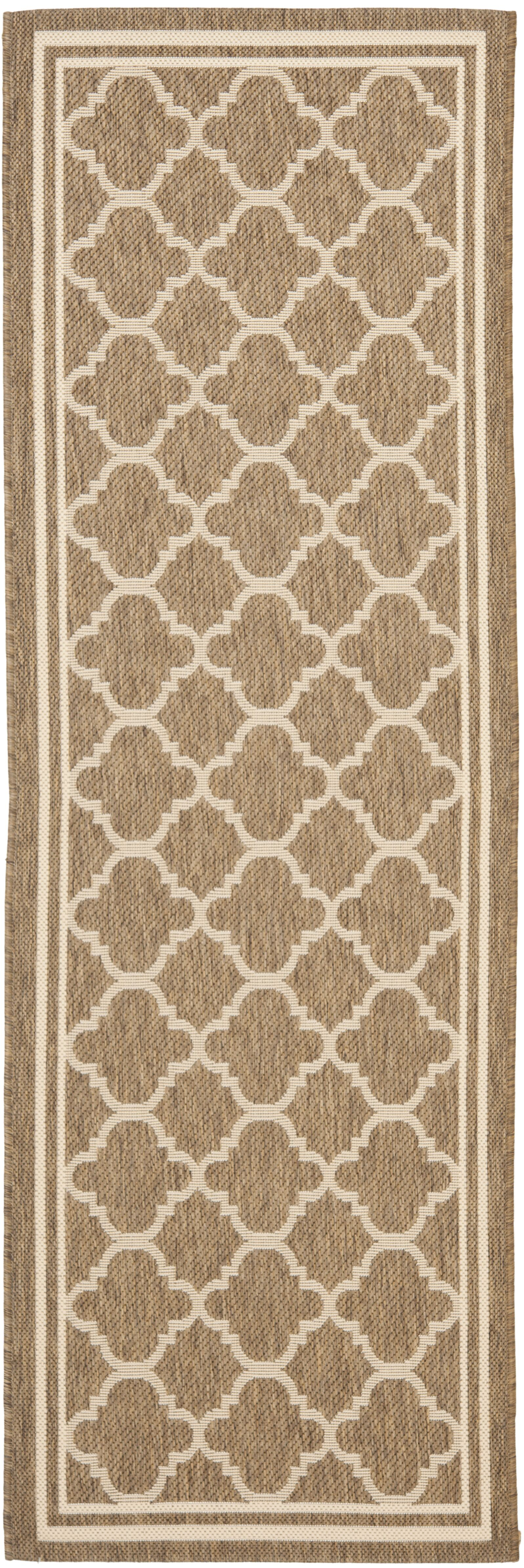 Short Brown/Bone Outdoor Area Rug Rug Size: Rectangle 6'7