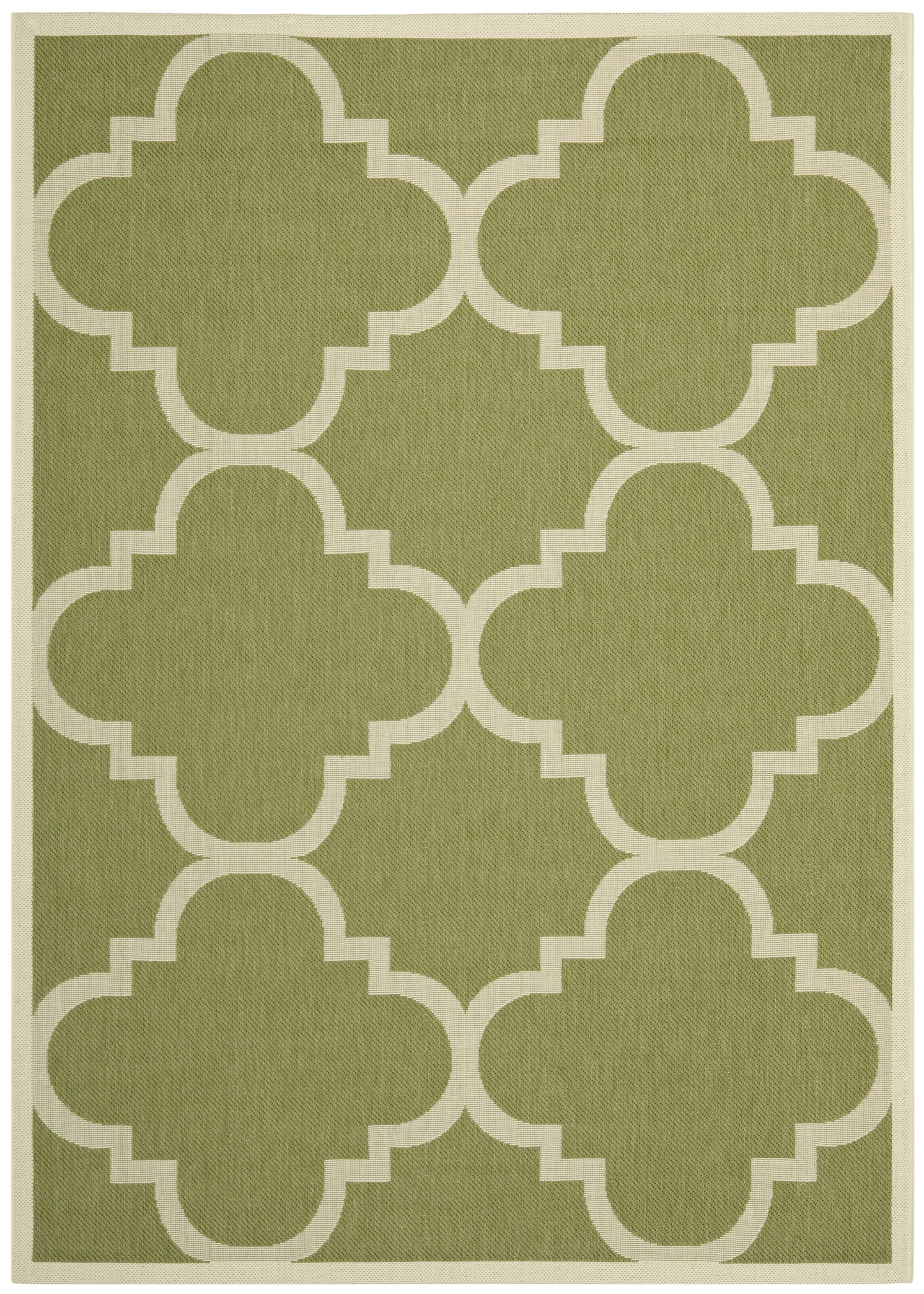 Short Green Area Rug Rug Size: Rectangle 8' x 11'2