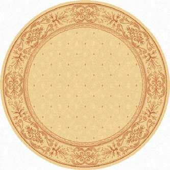 Short Natural / Terra Outdoor Area Rug Rug Size: Round 5'3