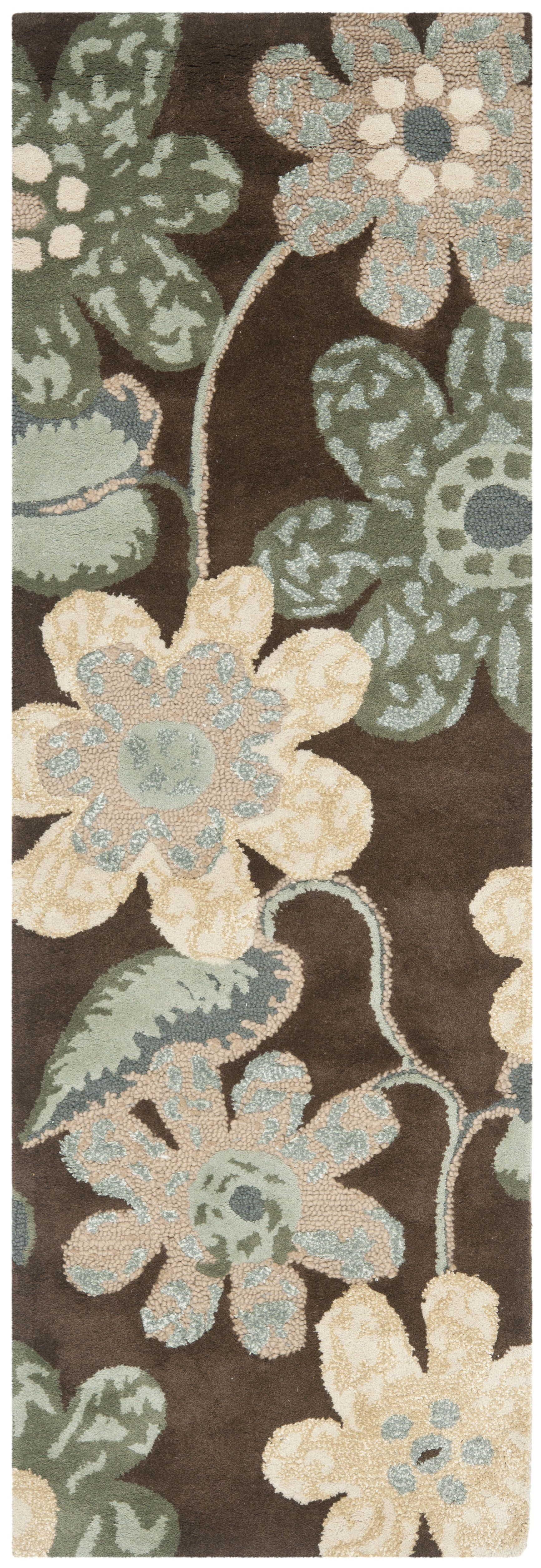 Mccullough Brown Area Rug Rug Size: Runner 2'3
