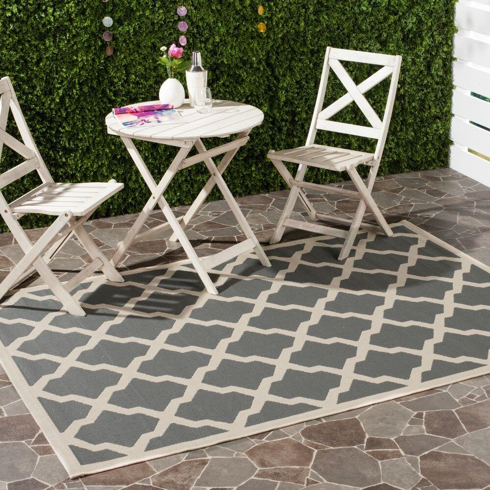 Short Gray IndoorOutdoor Area Rug Rug Size: Rectangle 8' x 11'