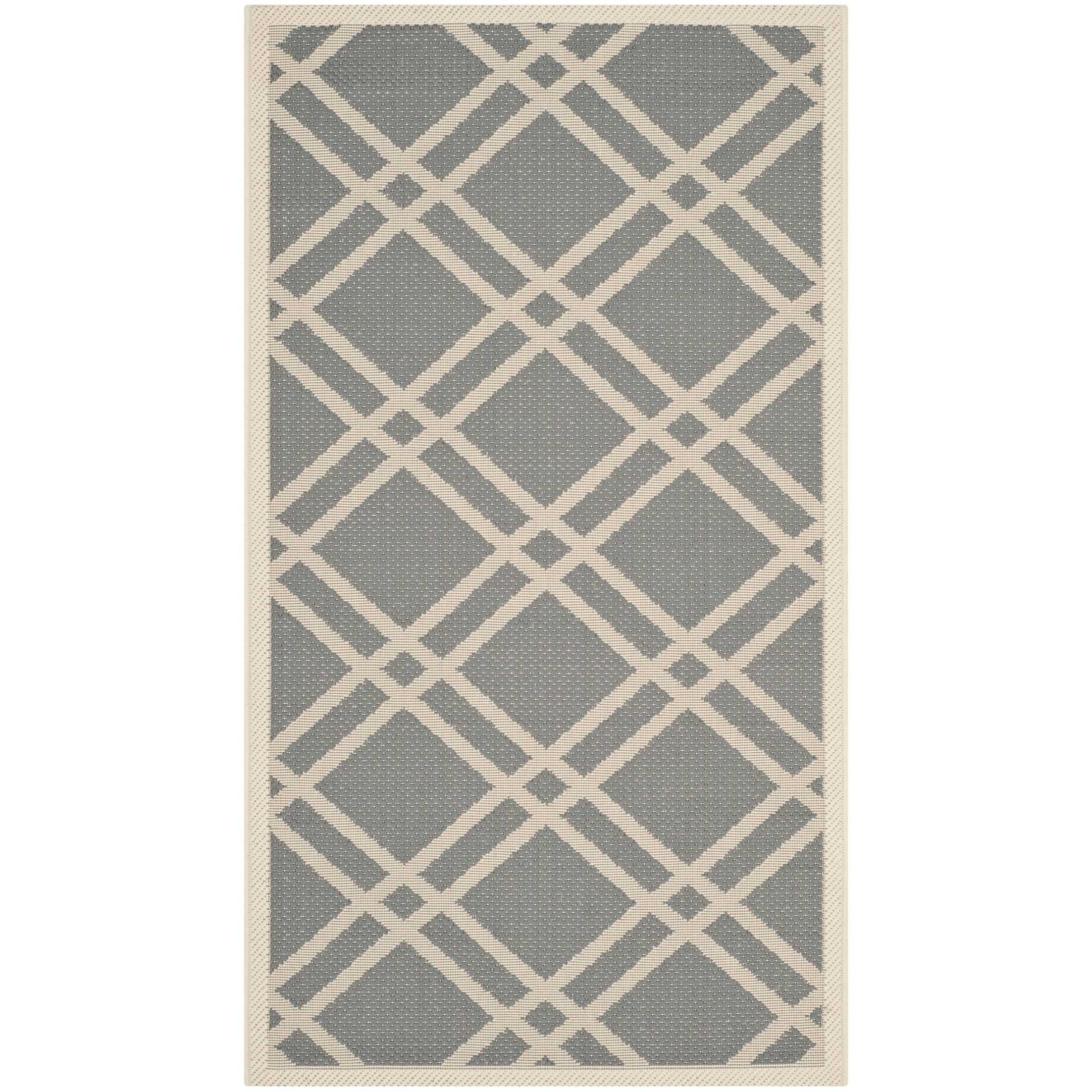 Short Gray/Ivory Indoor/Outdoor Area Rug Rug Size: Rectangle 9' x 12'