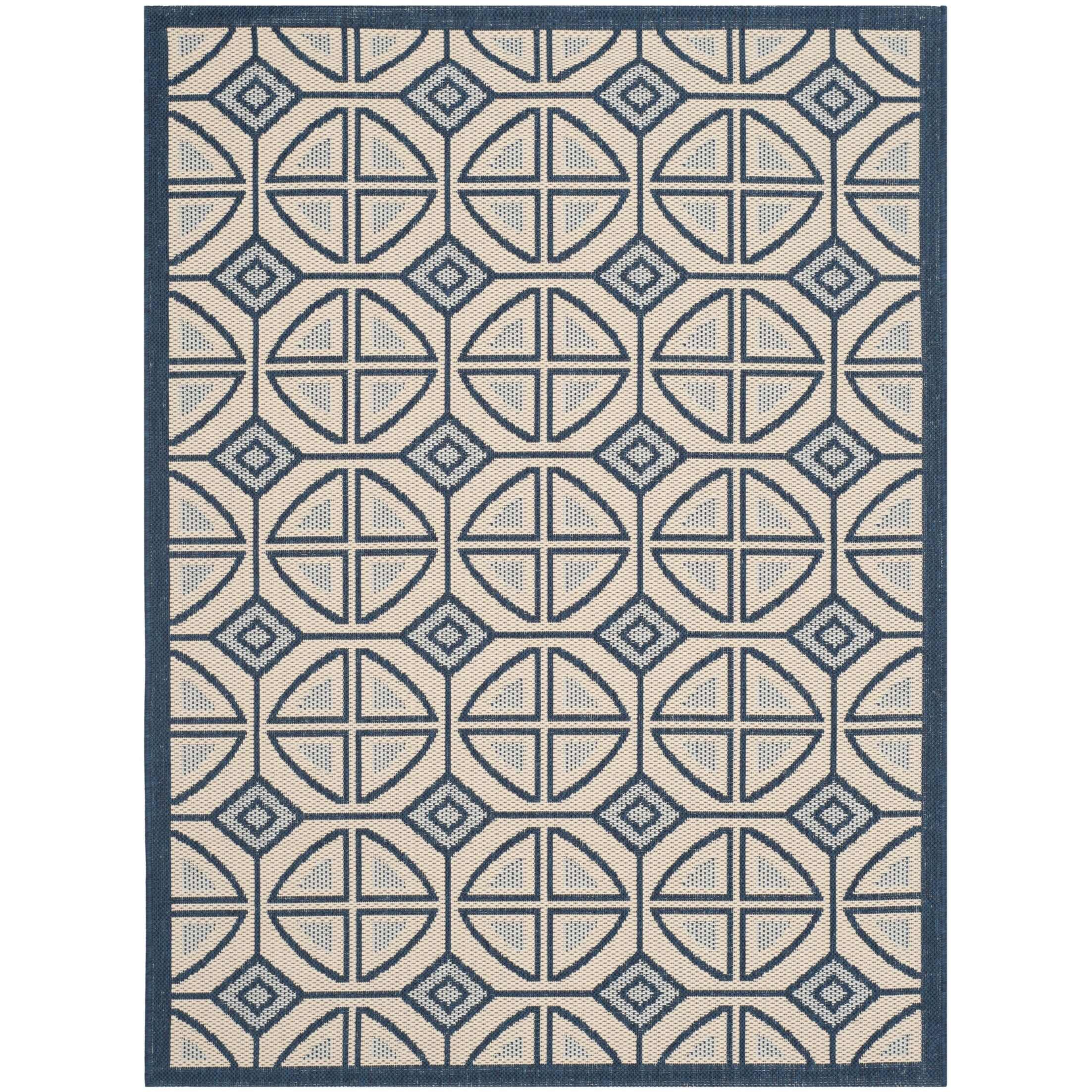 Short Beige Indoor/Outdoor Rug Rug Size: Rectangle 5'3