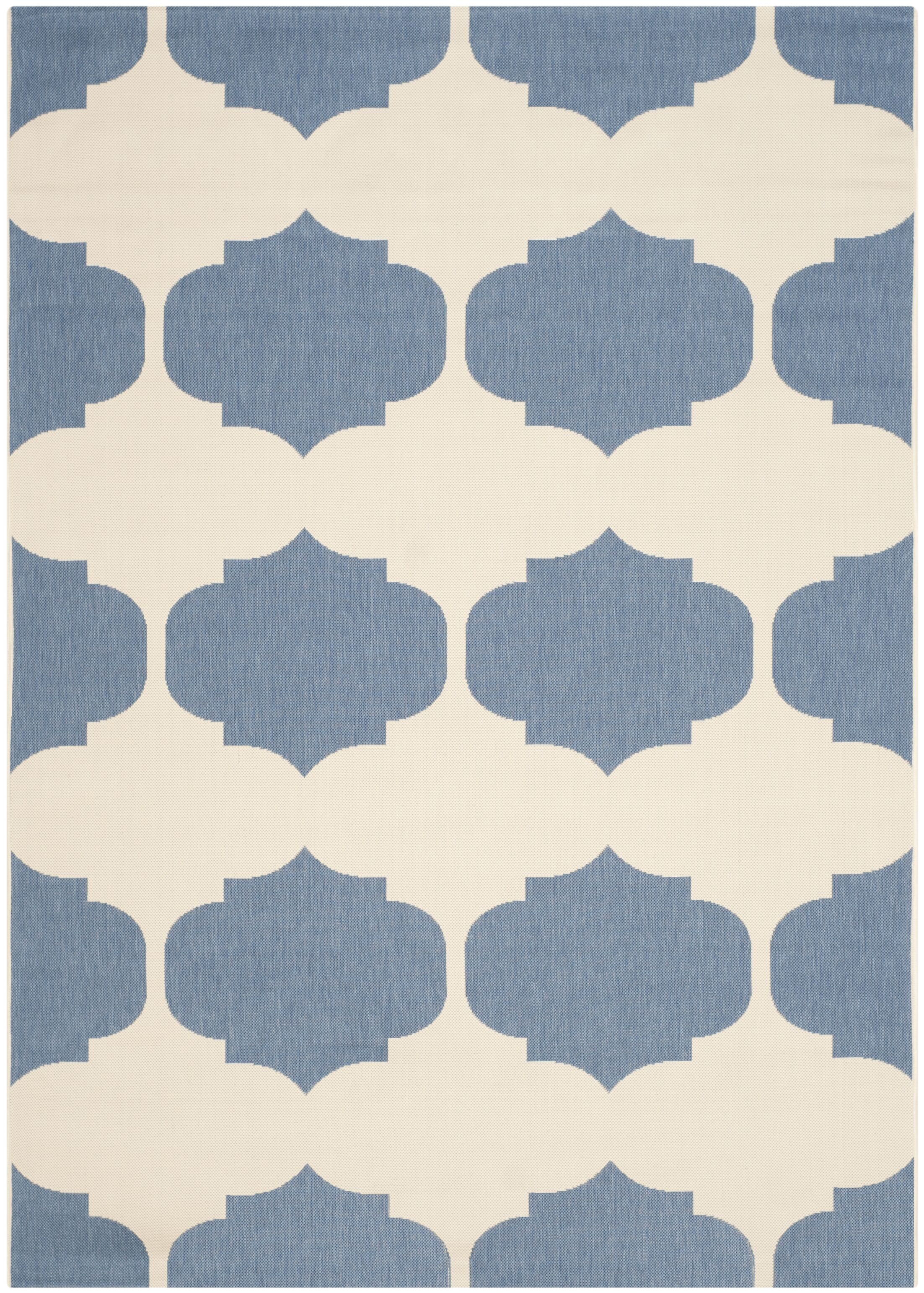 Short Beige/Blue Contemporary Rug Rug Size: Rectangle 6'7