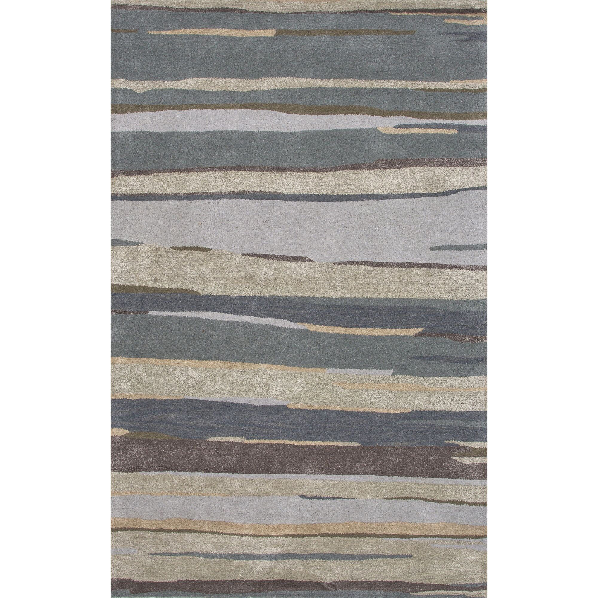 Williamsfield Hand-Tufted Gray/Blue Area Rug Rug Size: Rectangle 2' x 3'