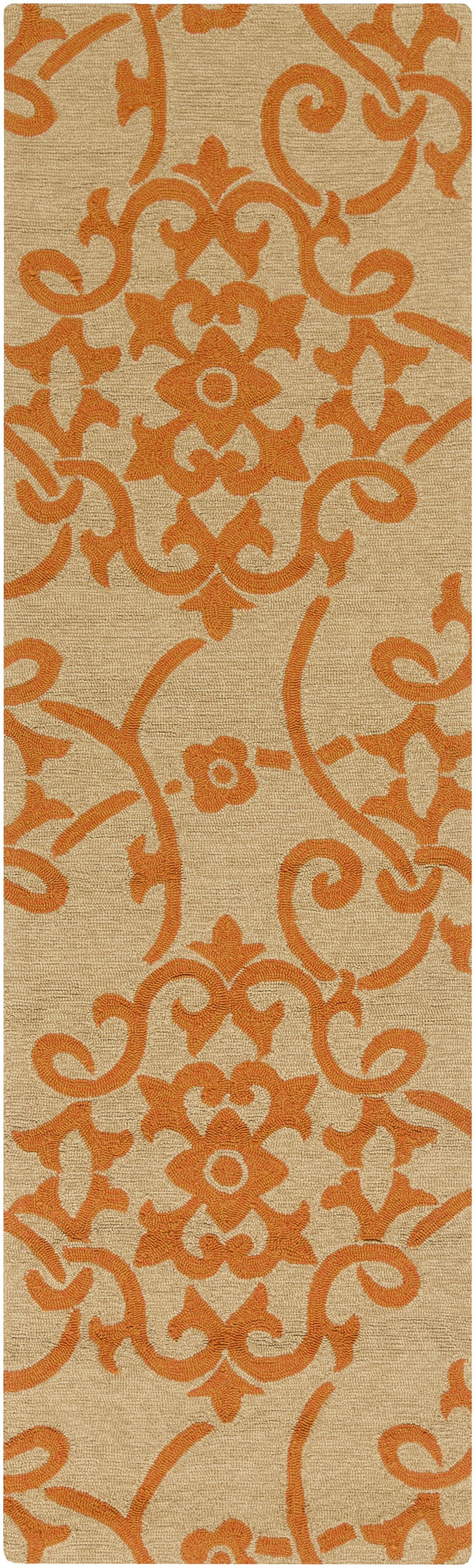Cynthia Orange Indoor/Outdoor Area Rug Rug Size: Runner 2'6