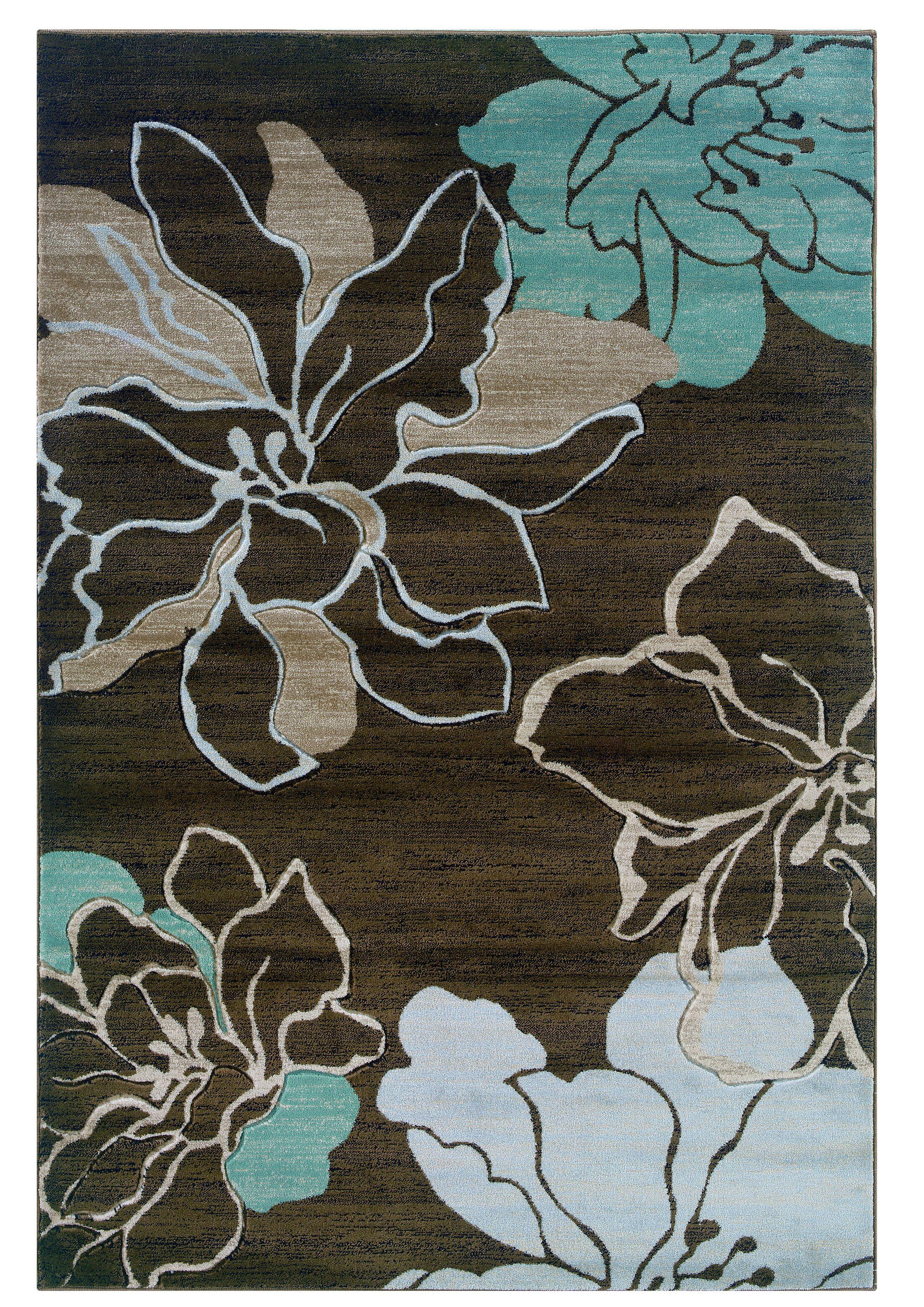 Carlee Brown/Sand Area Rug Rug Size: Rectangle 8' x 10'3
