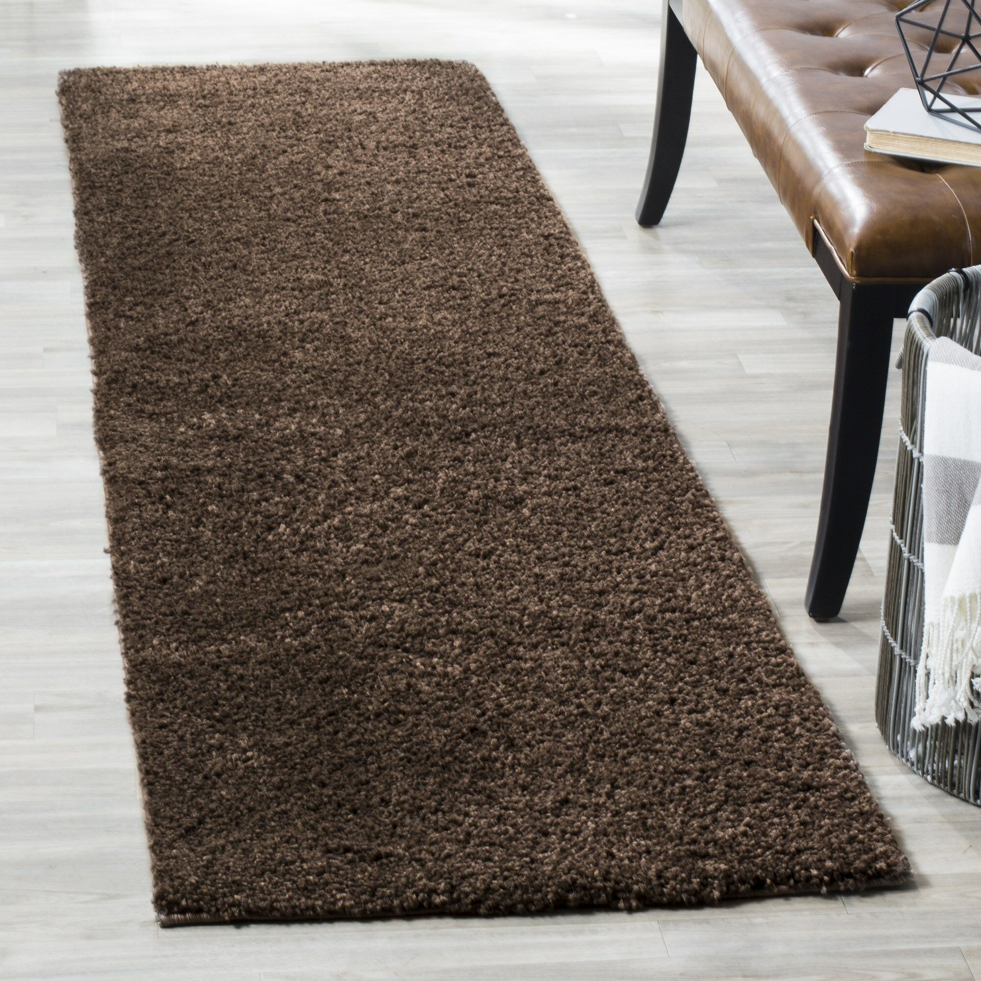 Curran Brown Area Rug Rug Size: Runner 2'3