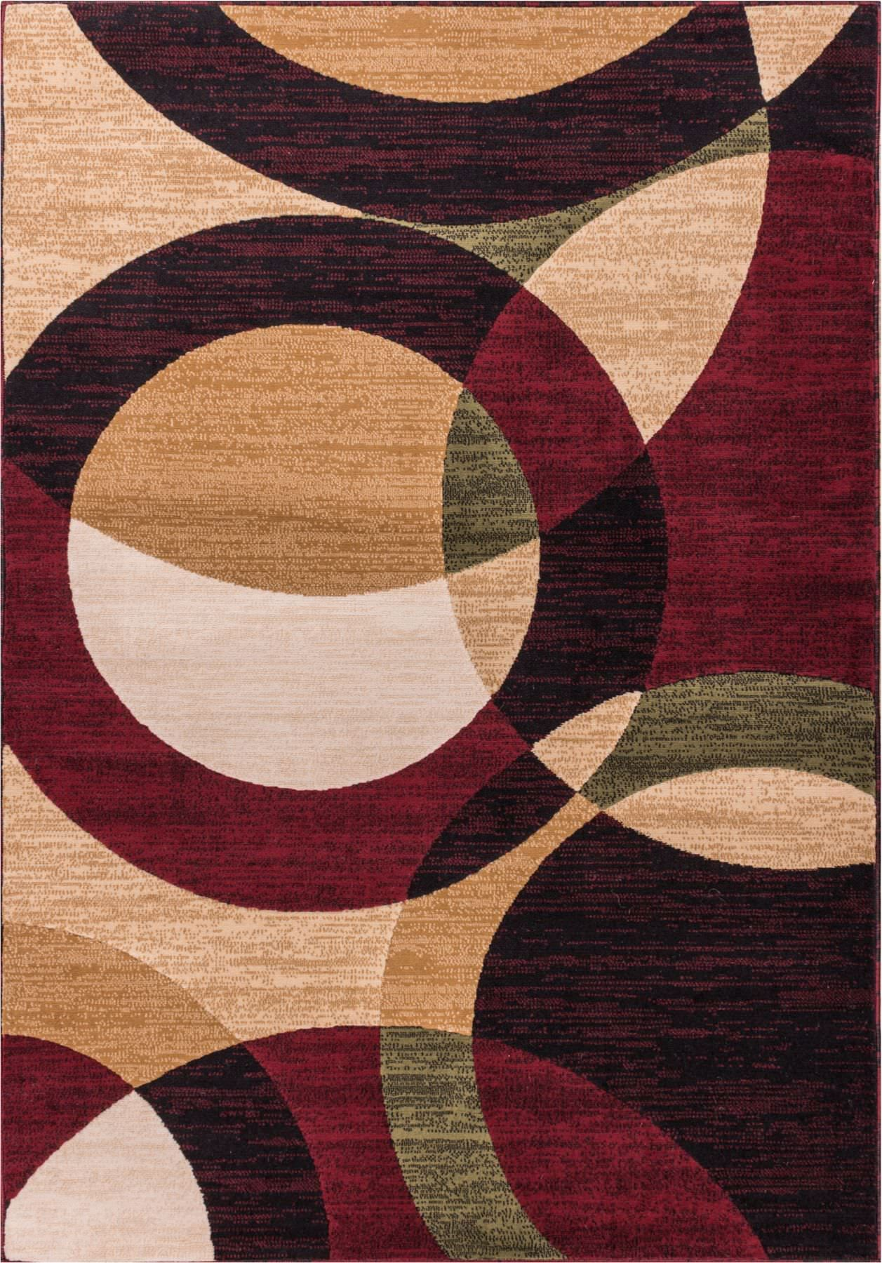 Chelsi Rings/Circles Area Rug Rug Size: 9'3