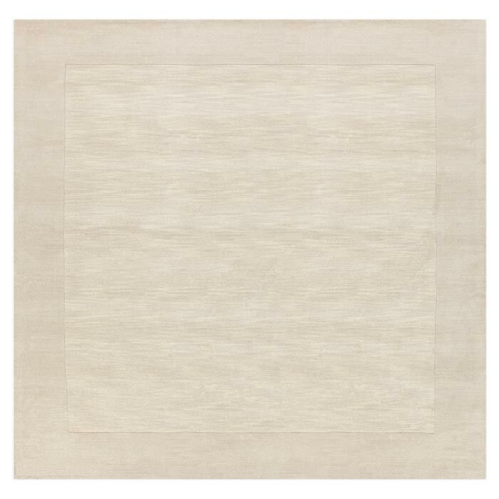 Bradley Hand Woven Winter White Area Rug Rug Size: Square 6'