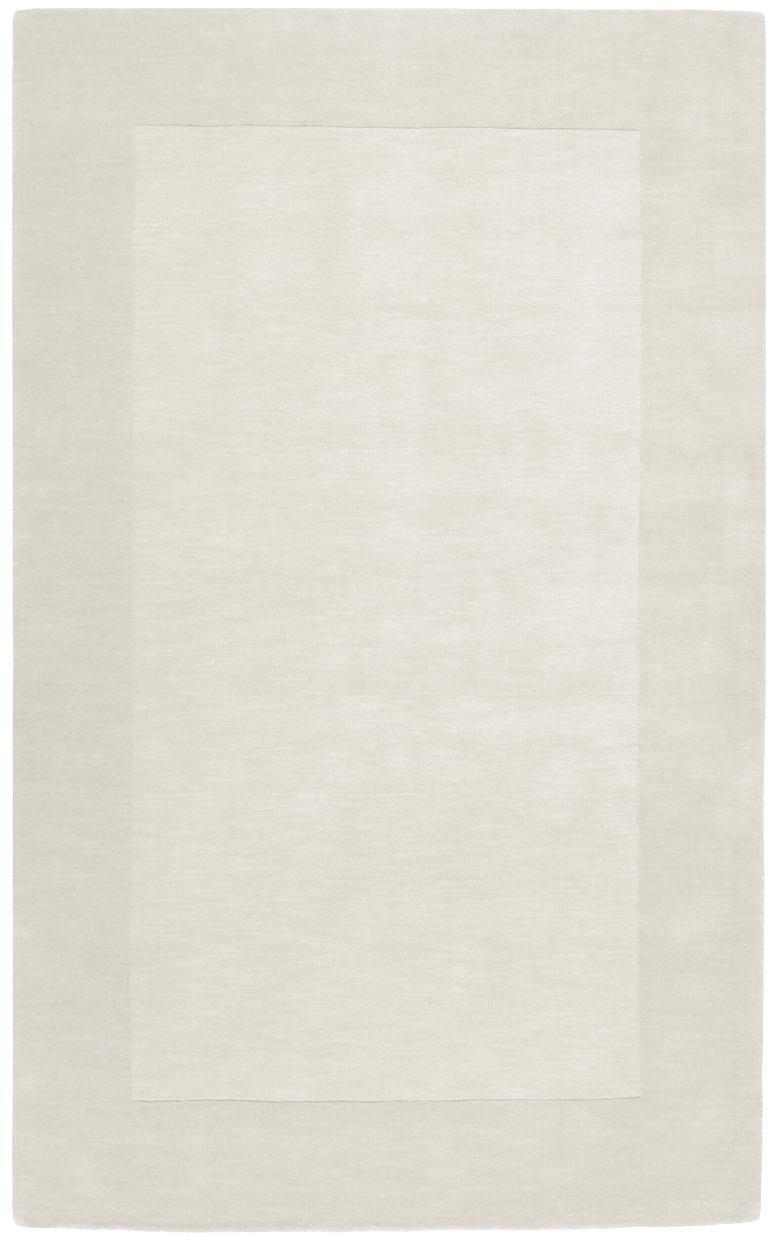 Bradley Hand Woven Winter White Area Rug Rug Size: Rectangle 6' x 9'