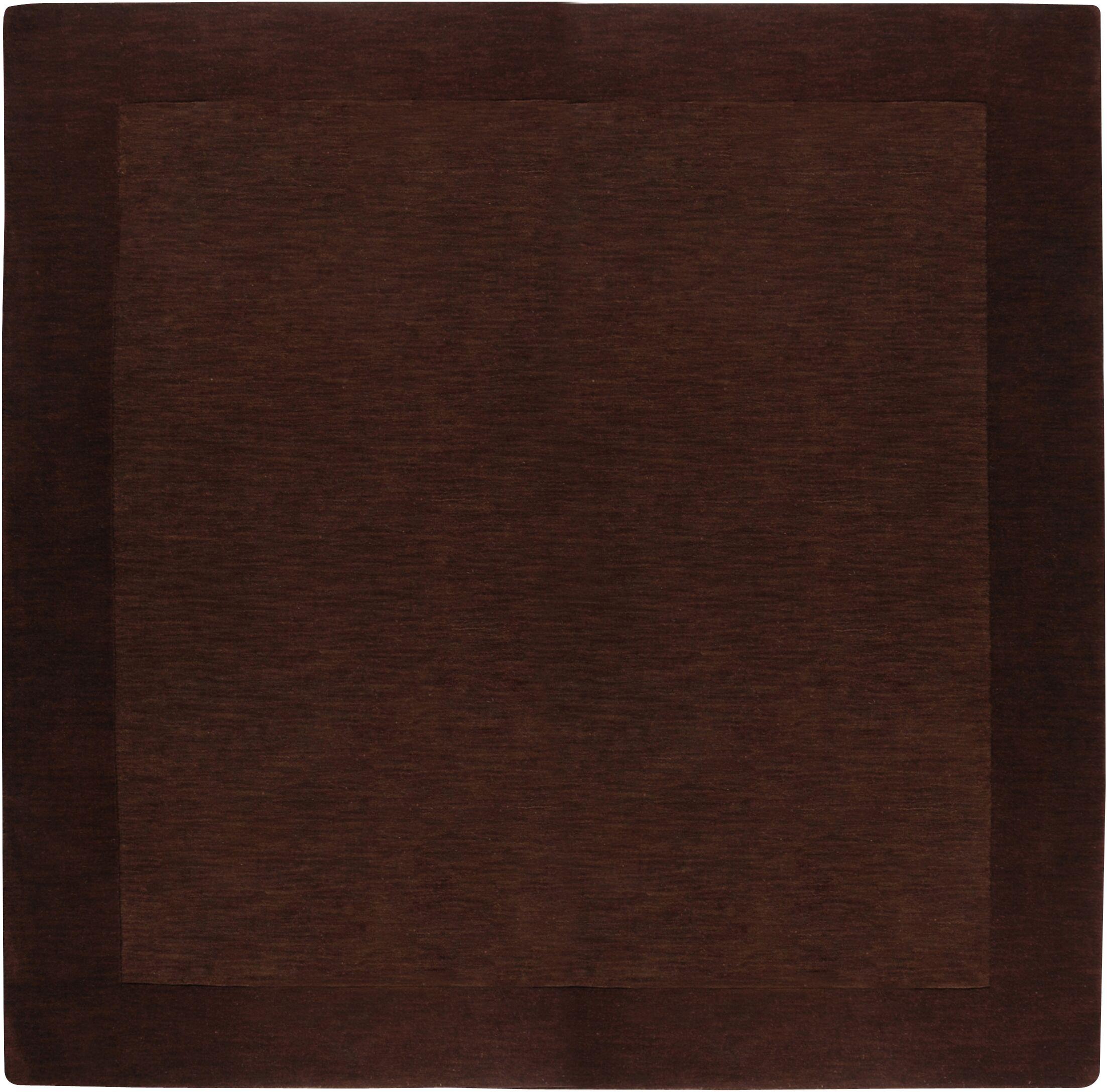 Bradley Chocolate Area Rug Rug Size: Square 9'9