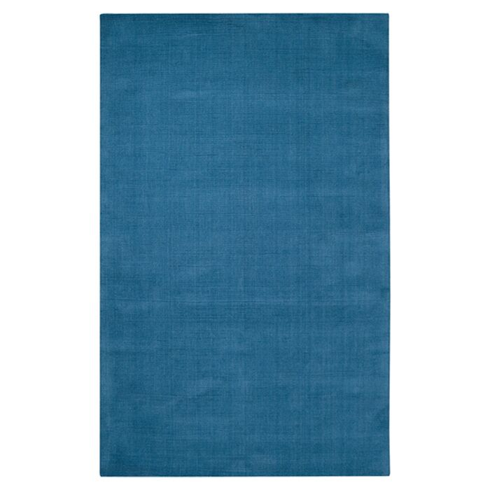 Naples Hand Woven Blue Area Rug Rug Size: Round 8'