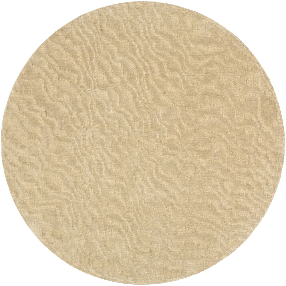 Naples Wool Peanut Butter Area Rug Rug Size: Round 9'9