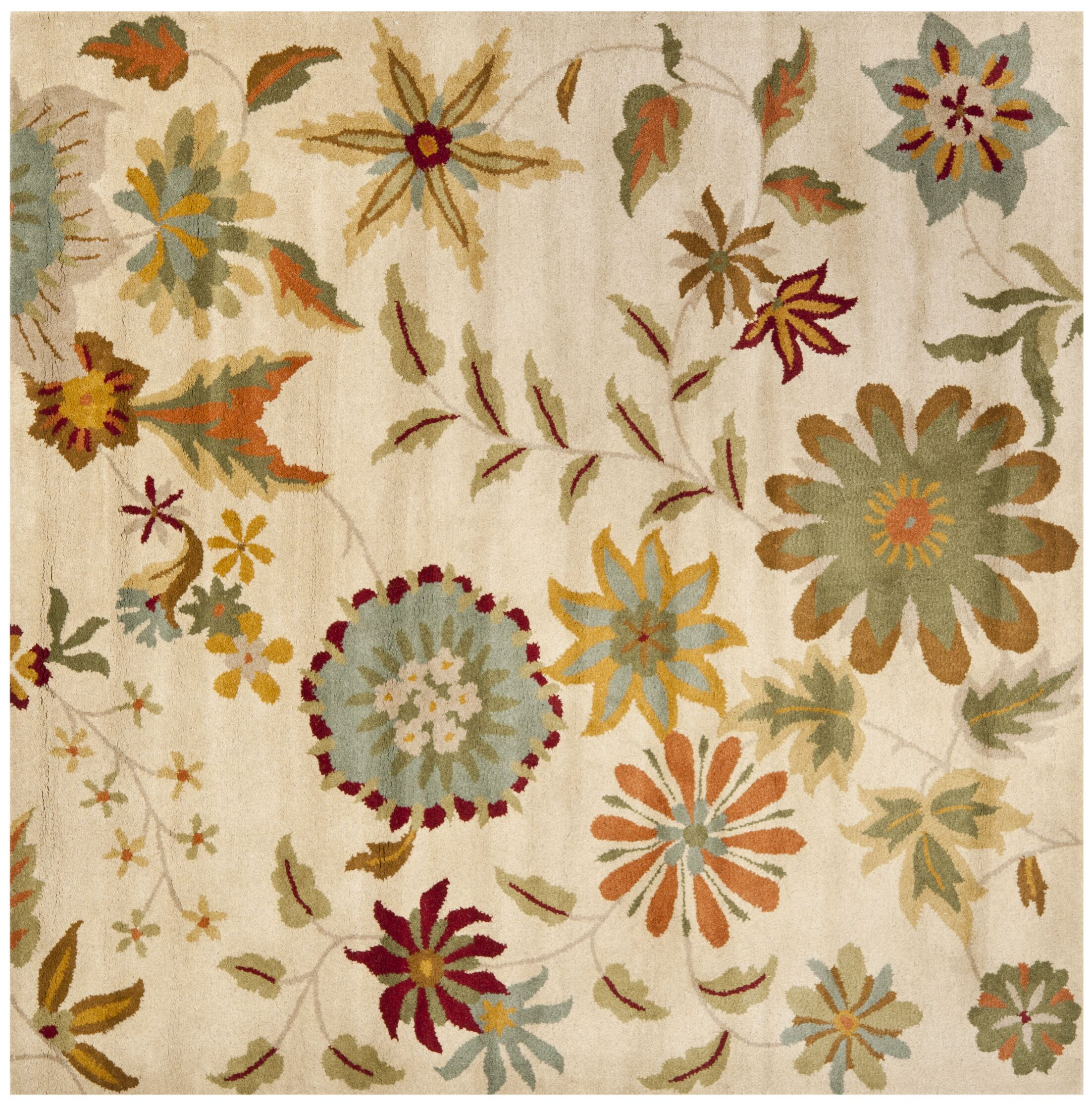 Armstrong Ivory / Sage Rug Rug Size: Square 6'